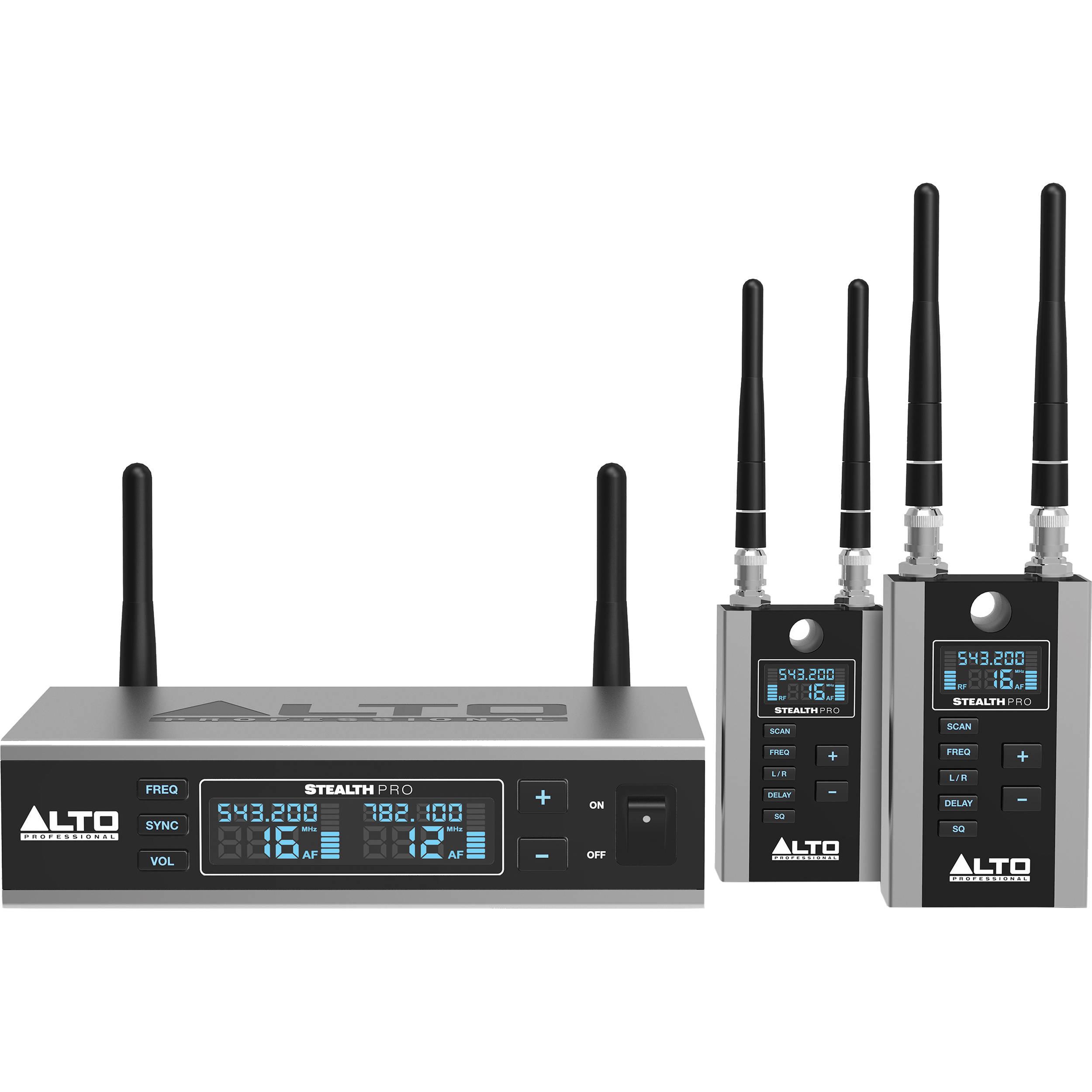 Alto Stealth Wireless Pro Professional Audio Stealth Pro B Amp H
