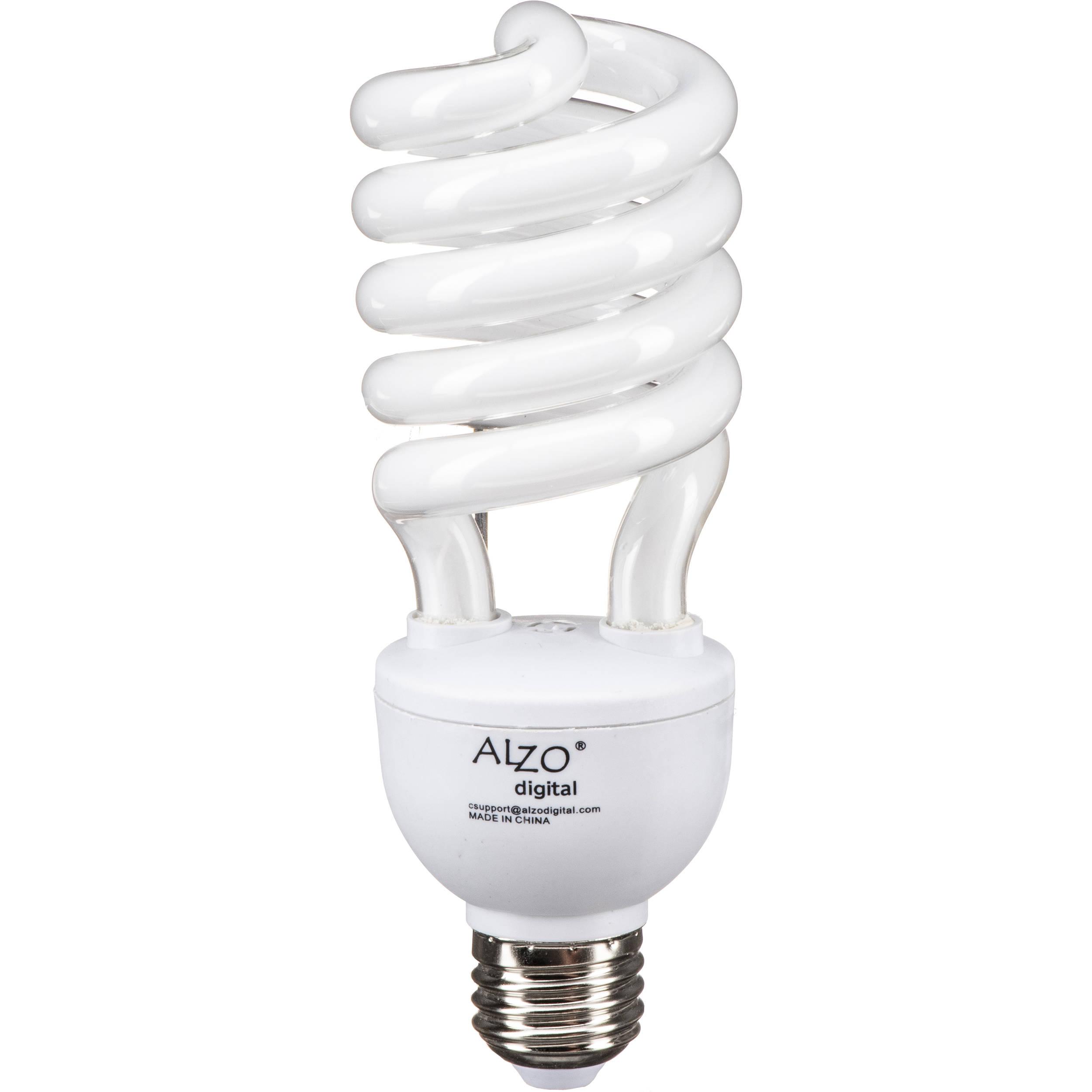 Alzo Cfl Photo Light Bulb 27w 120v 1069 55 B H Photo Video