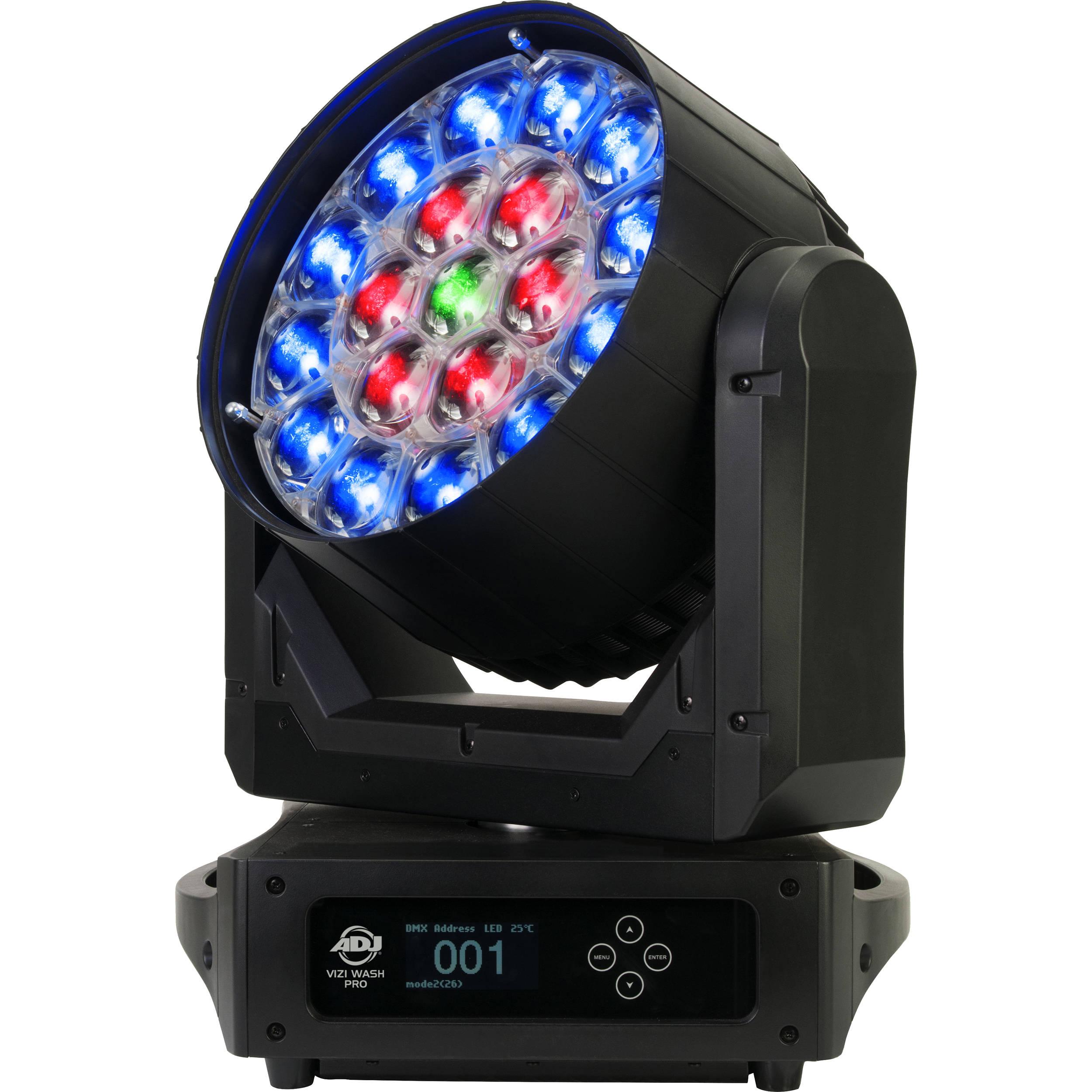 american dj vizi wash pro 570w rgbw led wash light vizi wash pro