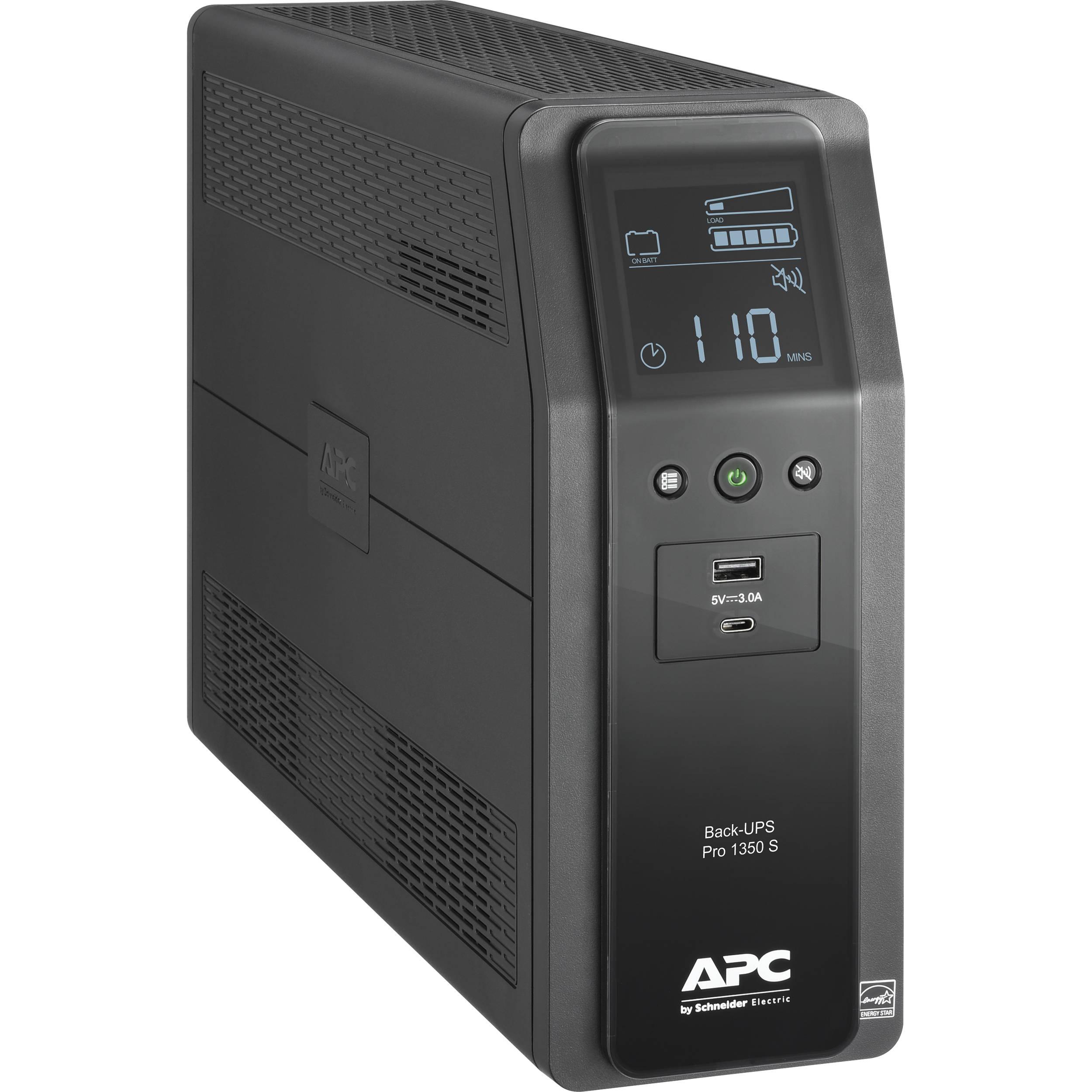 apc back ups pro br 1350va battery backup   surge br1350ms