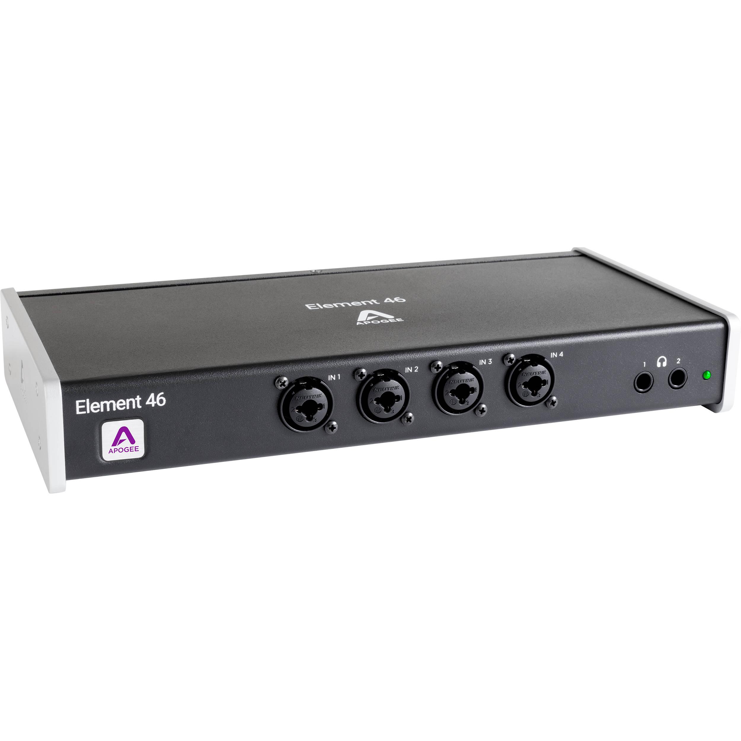 Apogee Electronics Element 46 12x14 Thunderbolt Audio Cable Neutrik Xlr 1 4quot Combo Jacks And Phantom Power Sound Design I O Box For Mac