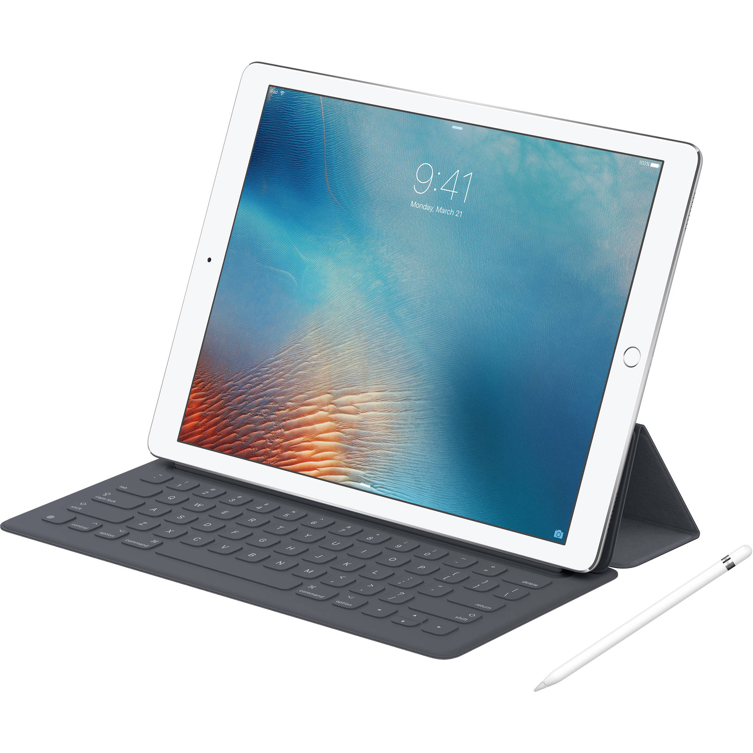 apple 9 7 ipad pro with apple smart keyboard and apple b h. Black Bedroom Furniture Sets. Home Design Ideas