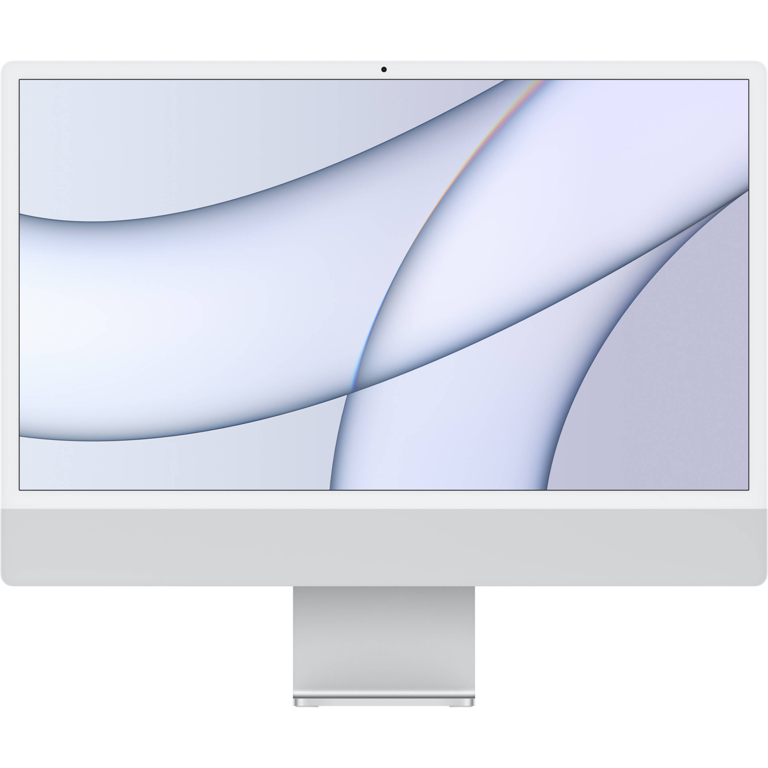 """Apple 24"""" iMac with M1 Chip (Mid 2021, Silver) MGTF3LL/A B&H"""