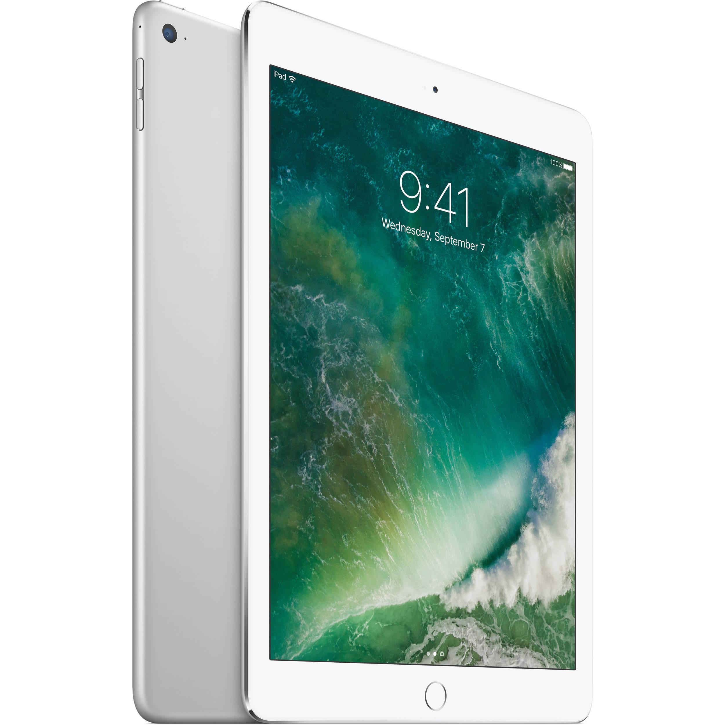 apple 128gb ipad air 2 wi fi only silver mgty2ll a b h. Black Bedroom Furniture Sets. Home Design Ideas