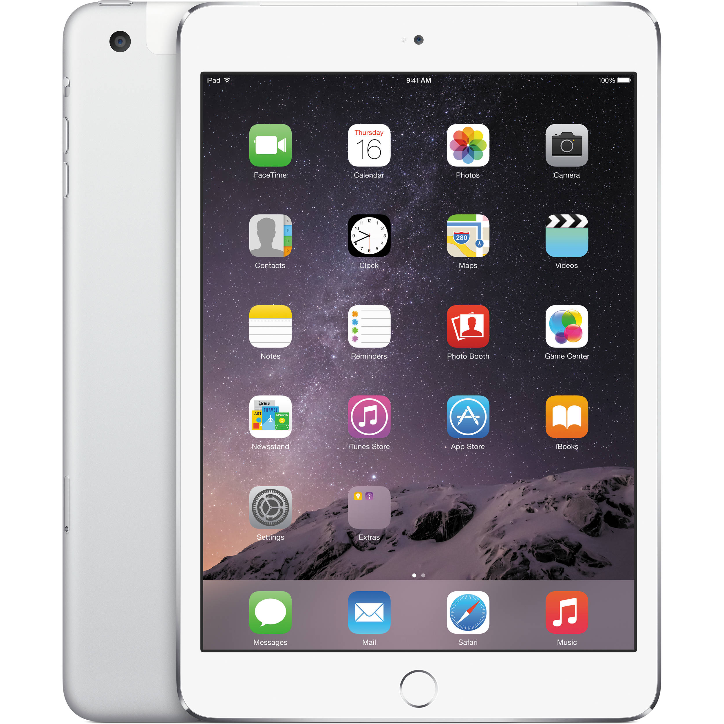 Apple 16GB iPad mini 3 (Wi-Fi + 4G LTE, Silver) MH3F2LL/A B&H