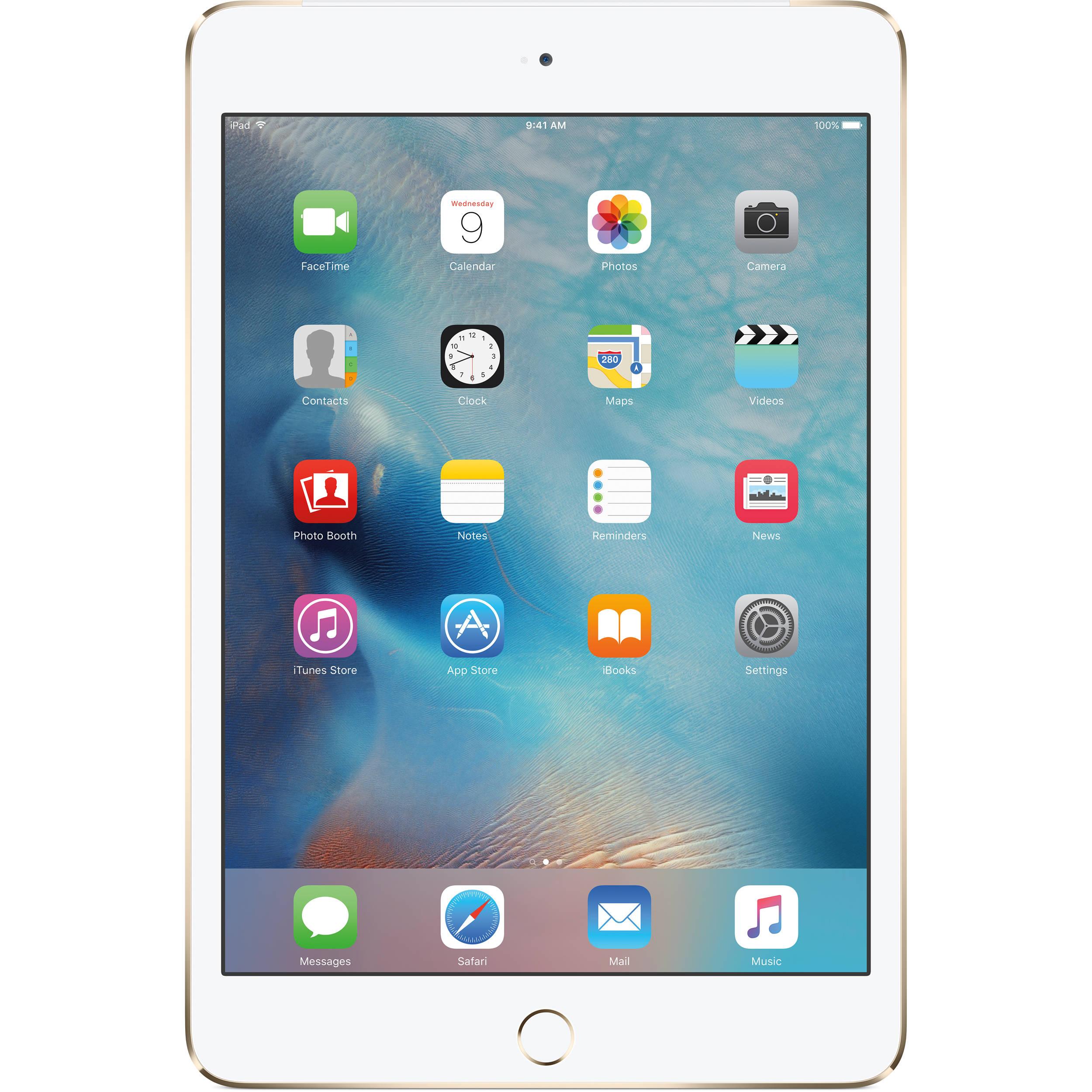 543753d580b Apple 128GB iPad mini 4 (Wi-Fi + 4G LTE, Gold) MK8F2LL/A B&H