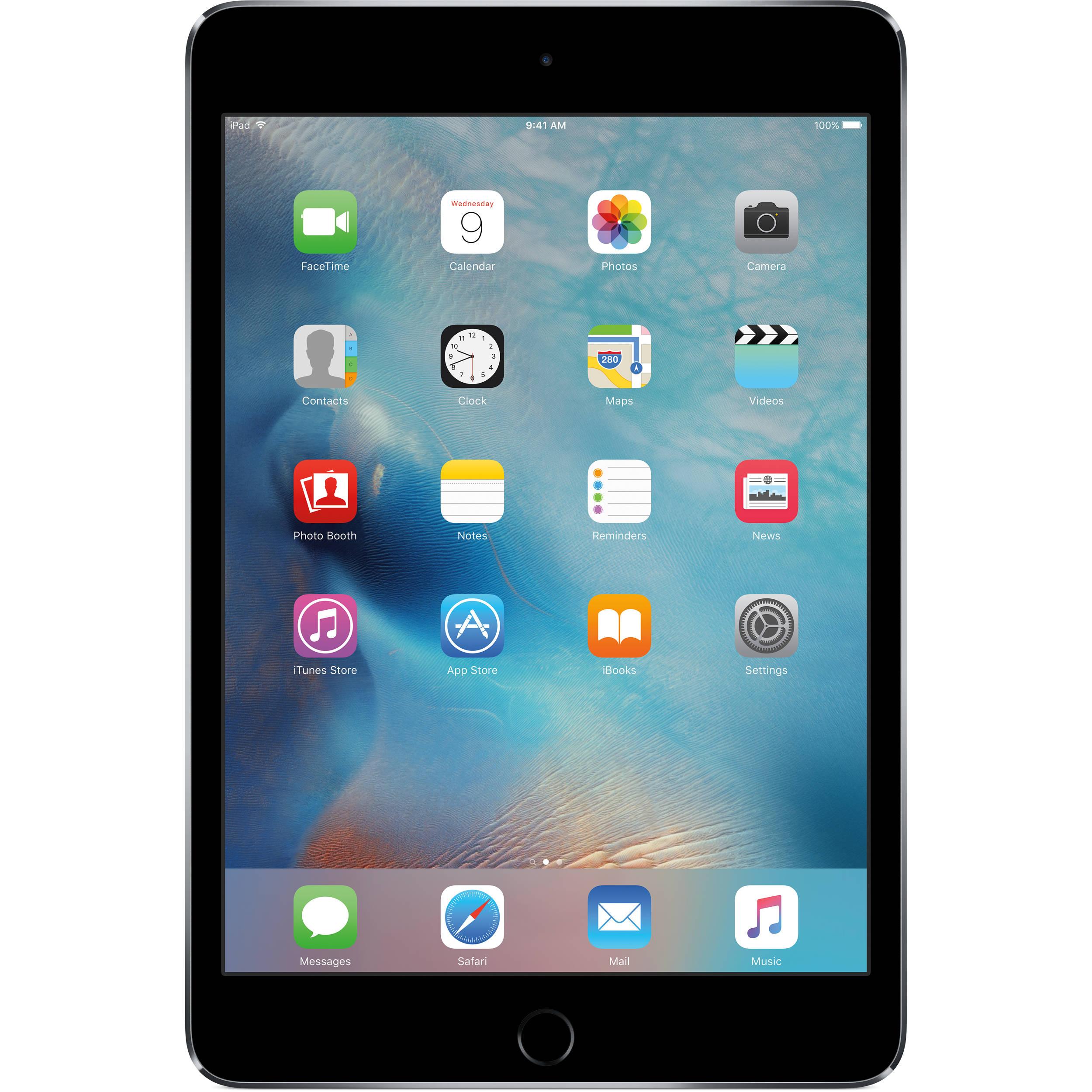 Apple 64GB iPad mini 4 (Wi-Fi Only, Space Gray) MK9G2LL/A B&H