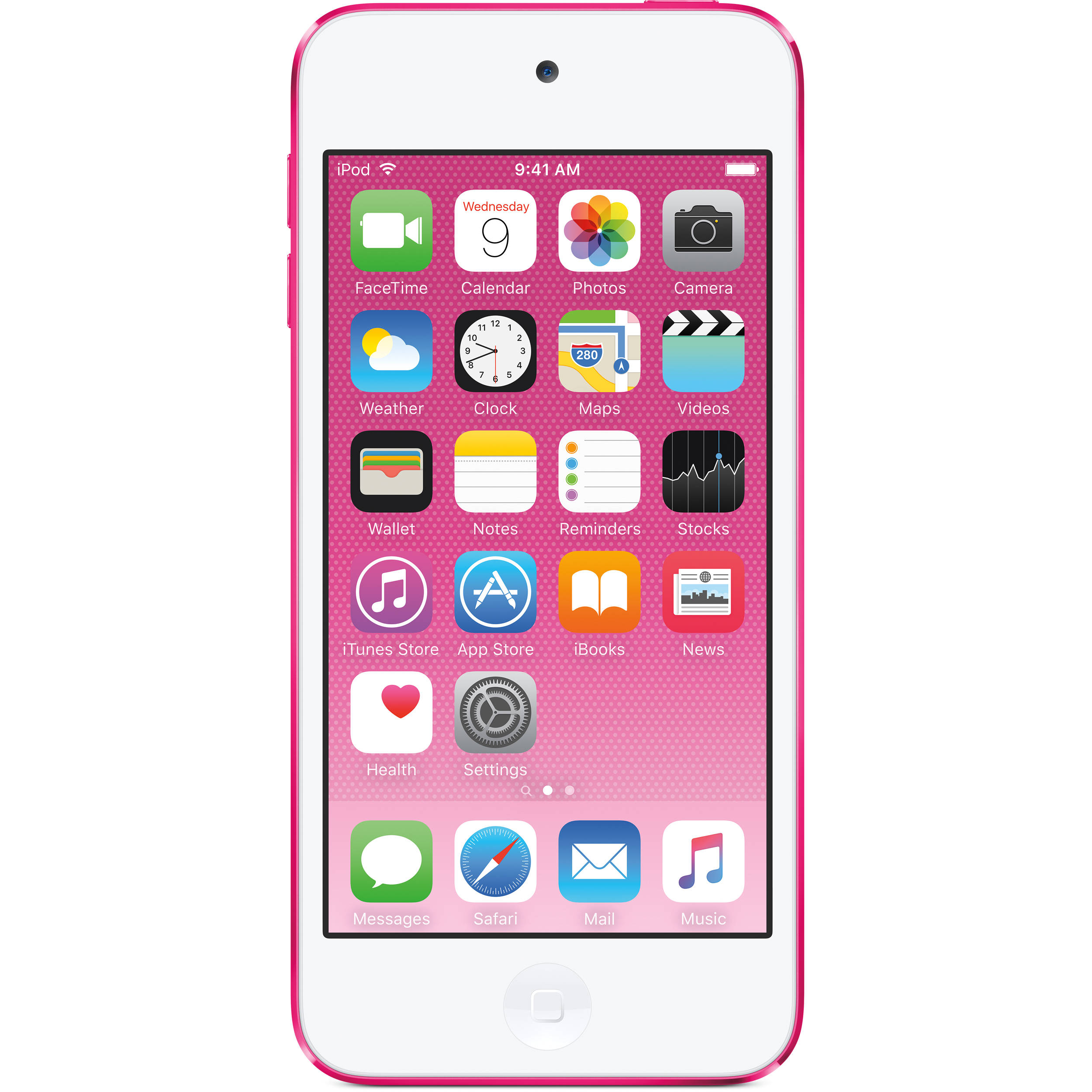 apple 128gb ipod touch 6th generation pink mkwk2ll a b h. Black Bedroom Furniture Sets. Home Design Ideas