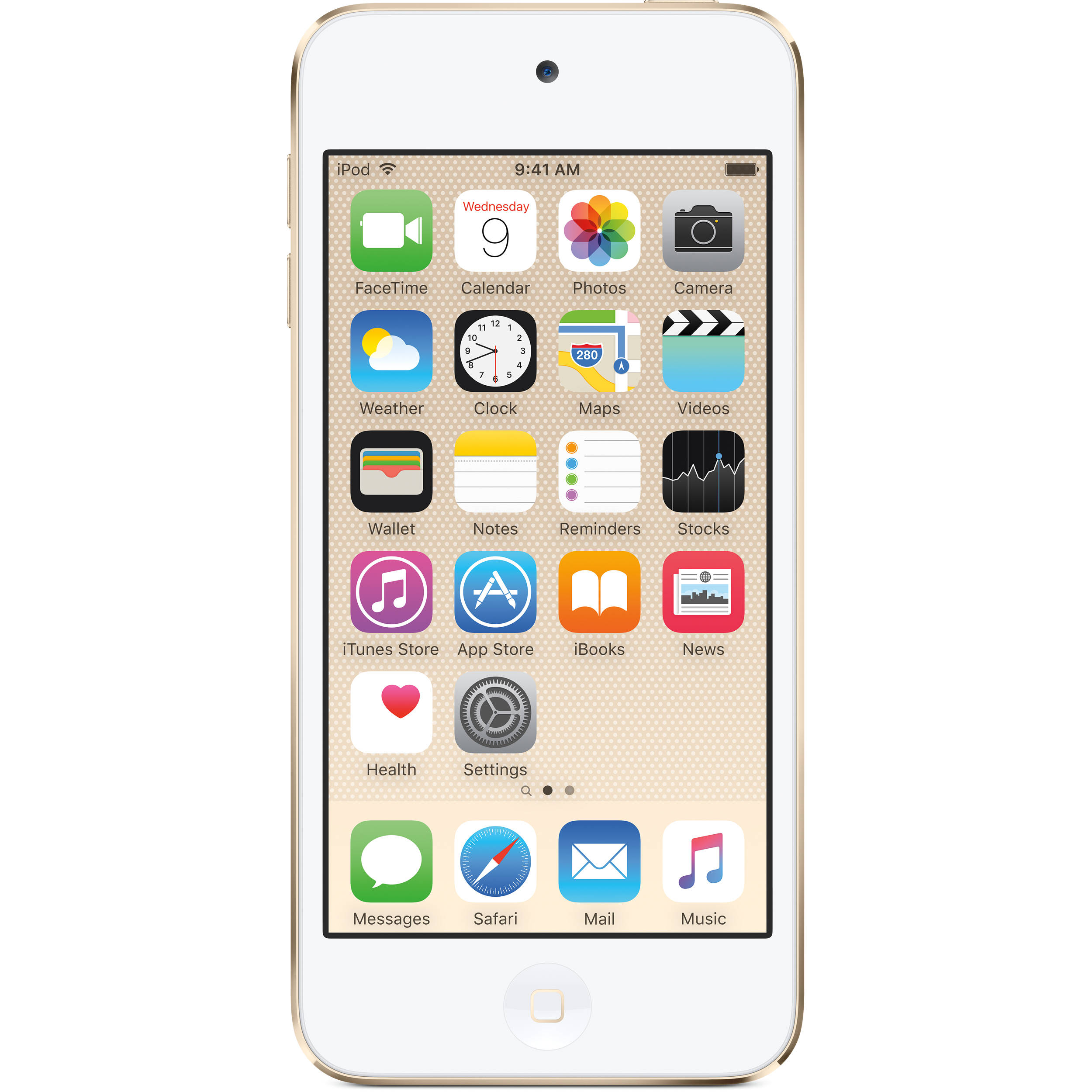 apple 128gb ipod touch 6th generation gold mkwm2ll a b h. Black Bedroom Furniture Sets. Home Design Ideas
