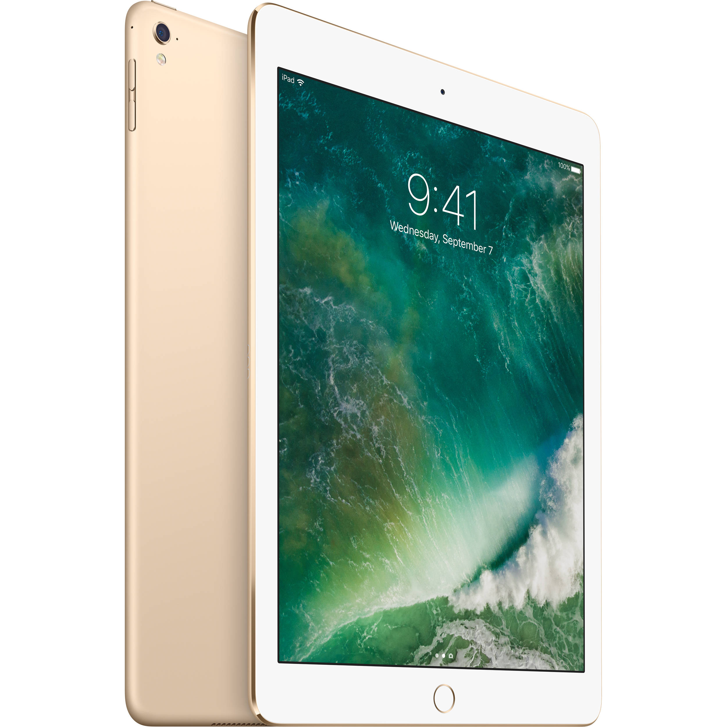 apple 9 7 ipad pro 32gb wi fi only gold mlmq2ll a b h. Black Bedroom Furniture Sets. Home Design Ideas