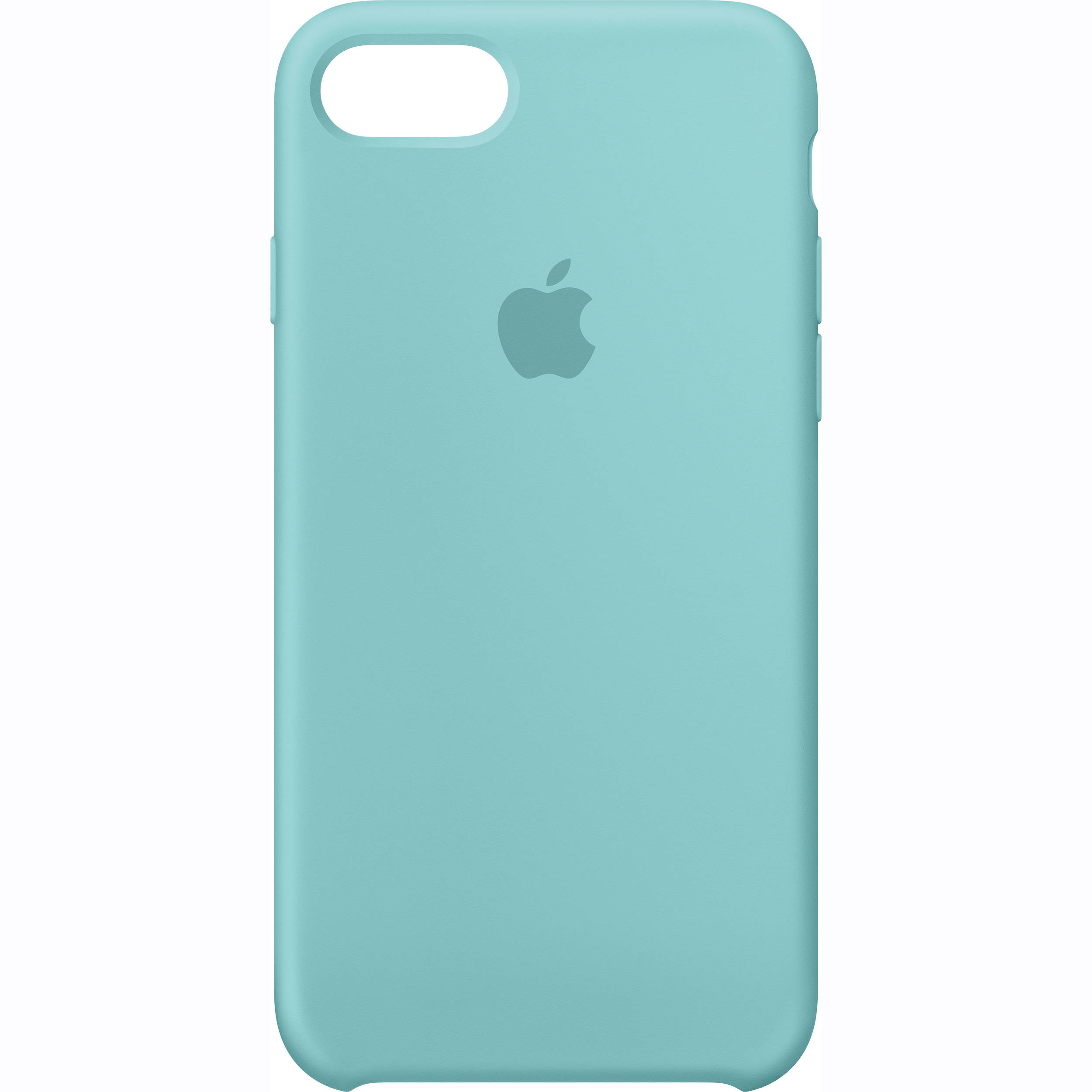 apple iphone 7 silicone case sea blue mmx02zm a b h photo. Black Bedroom Furniture Sets. Home Design Ideas