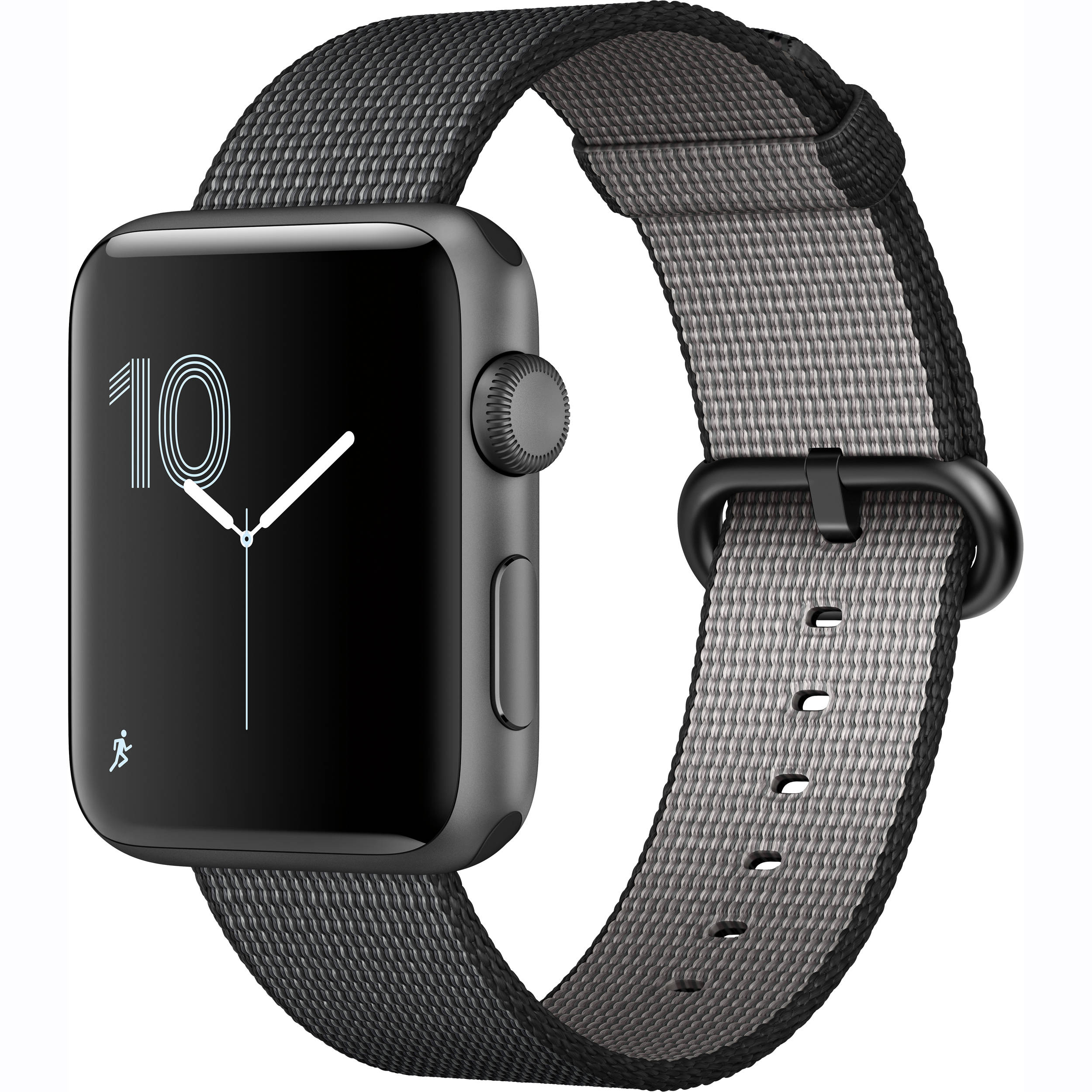 1f984d2f0efb Apple Watch Series 2 42mm Smartwatch (Space Gray Aluminum Case, Black Woven  Nylon Band)