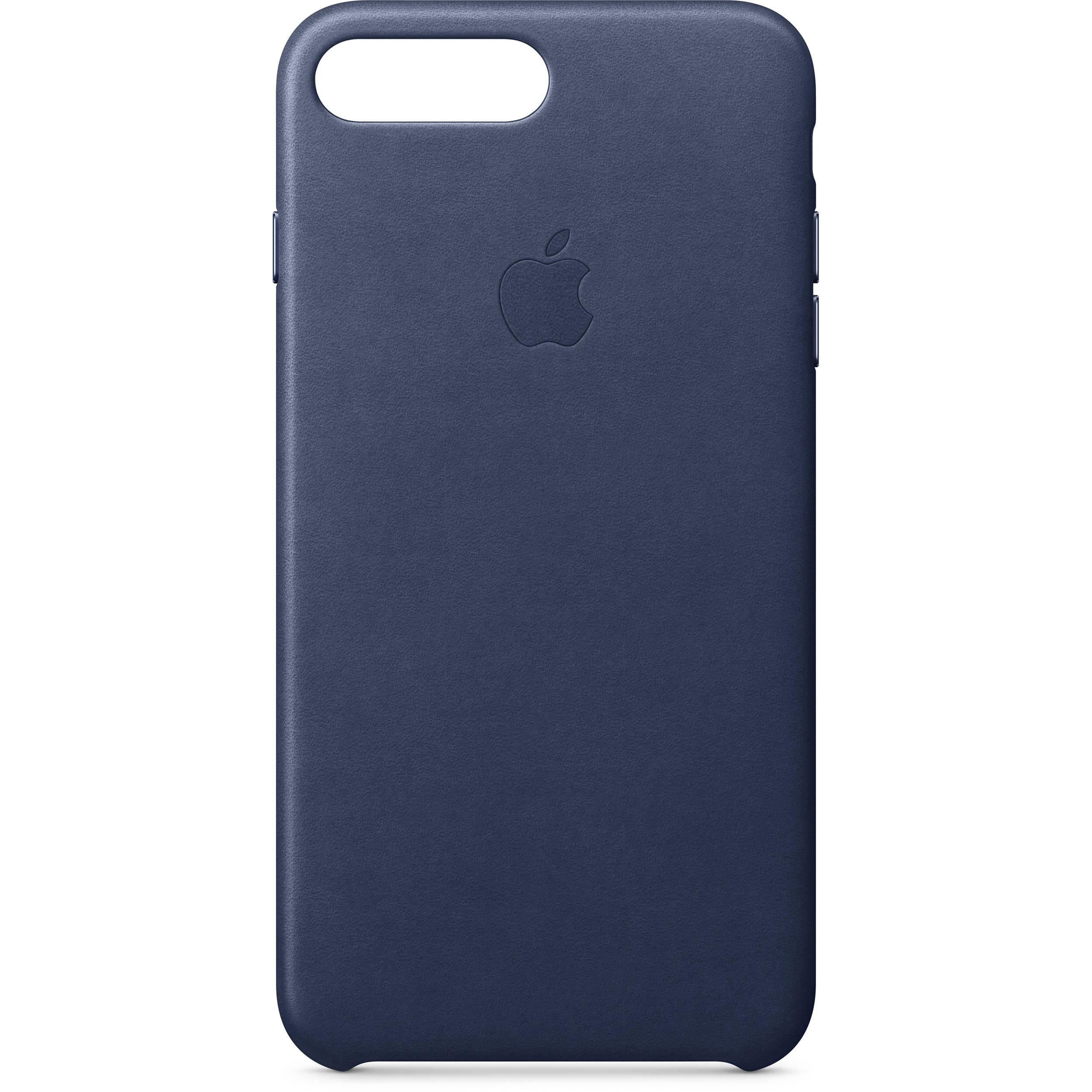 e641d03b311 Apple iPhone 8 Plus 7 Plus Leather Case (Midnight Blue)