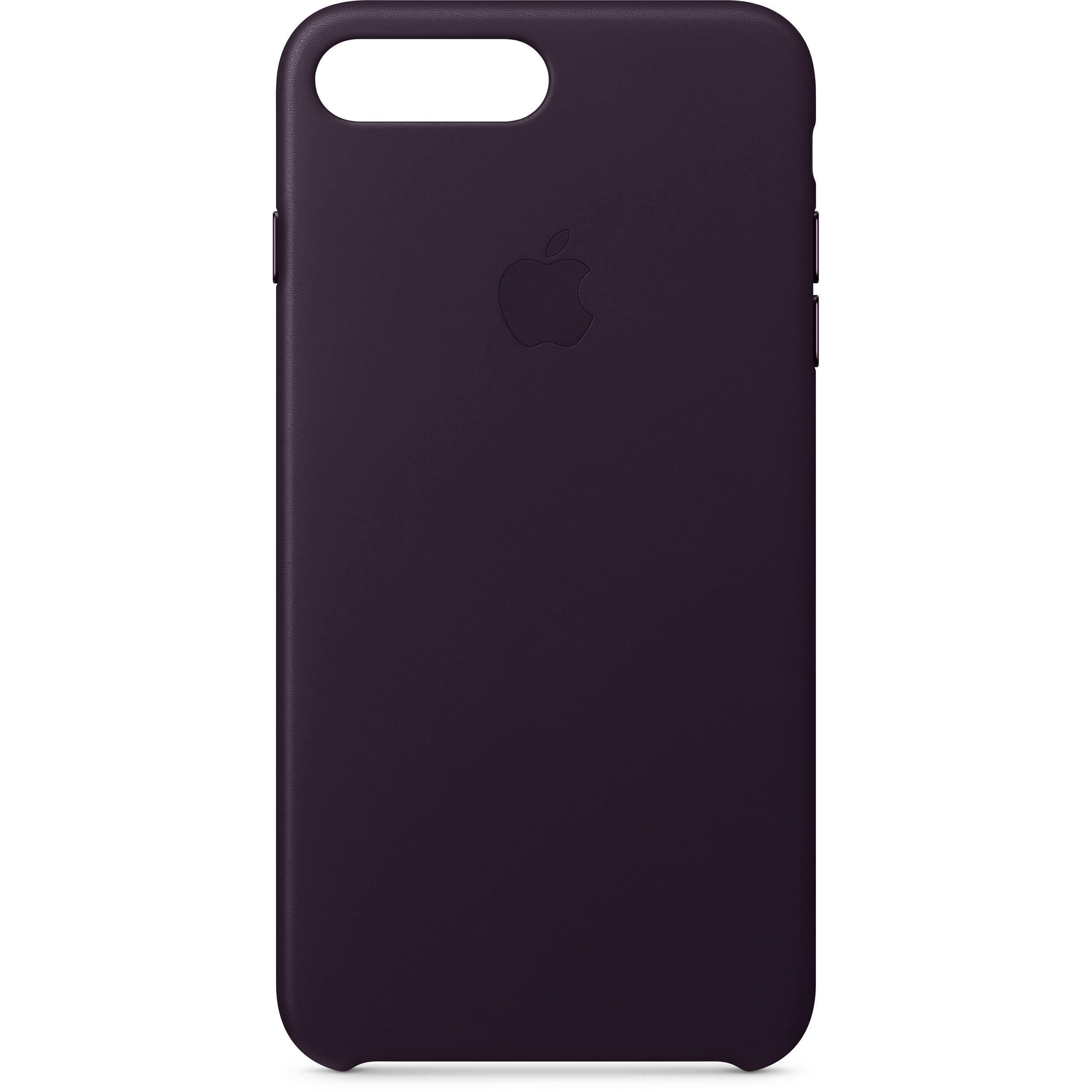 Apple IPhone 8 Plus 7 Leather Case Dark Aubergine