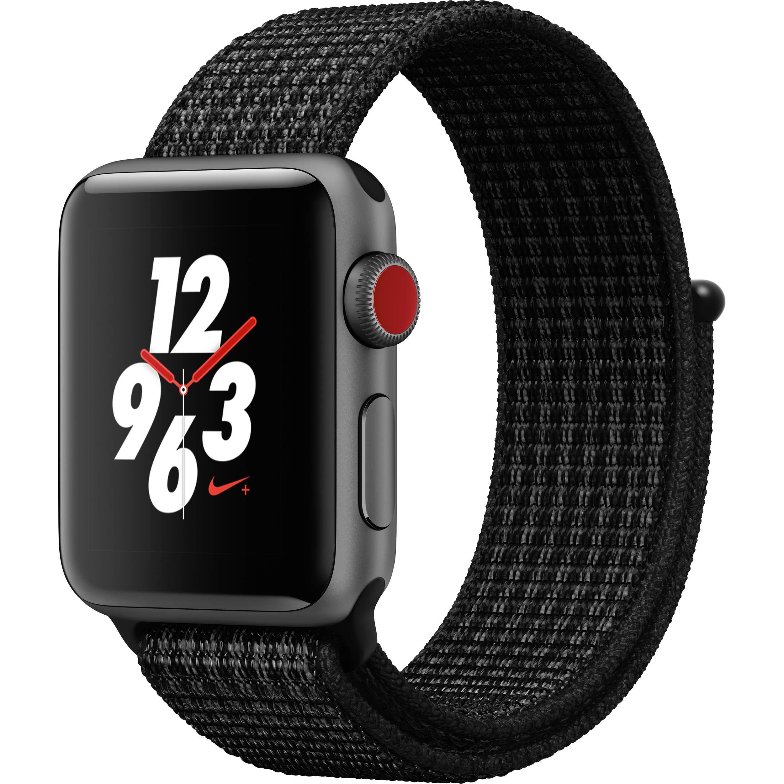 apple watch nike series 3 38mm smartwatch mql82ll a b h photo. Black Bedroom Furniture Sets. Home Design Ideas