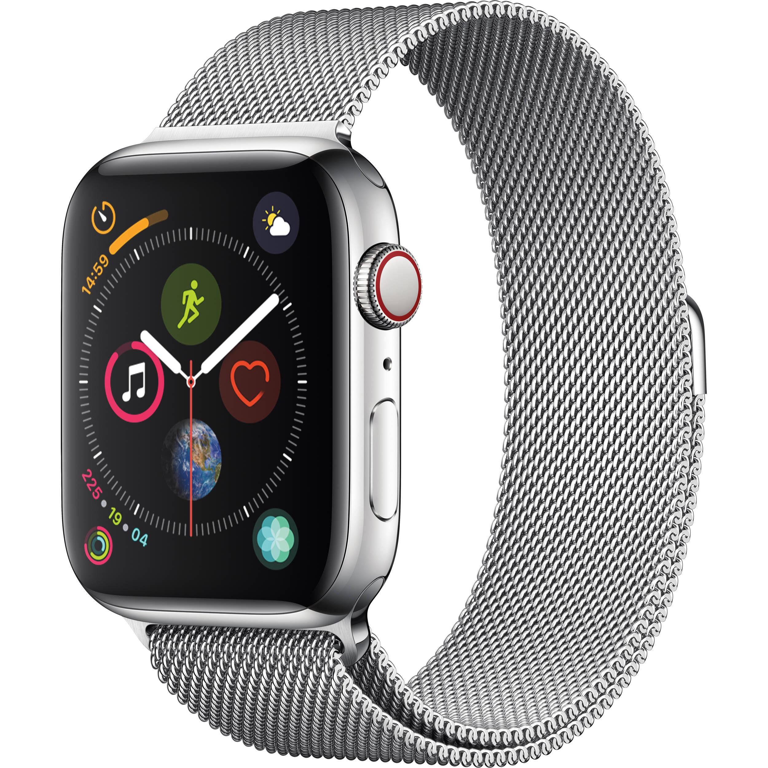 Apple Watch Series 4 GPS Cellular 44mm Stainless Steel Milanese Loop