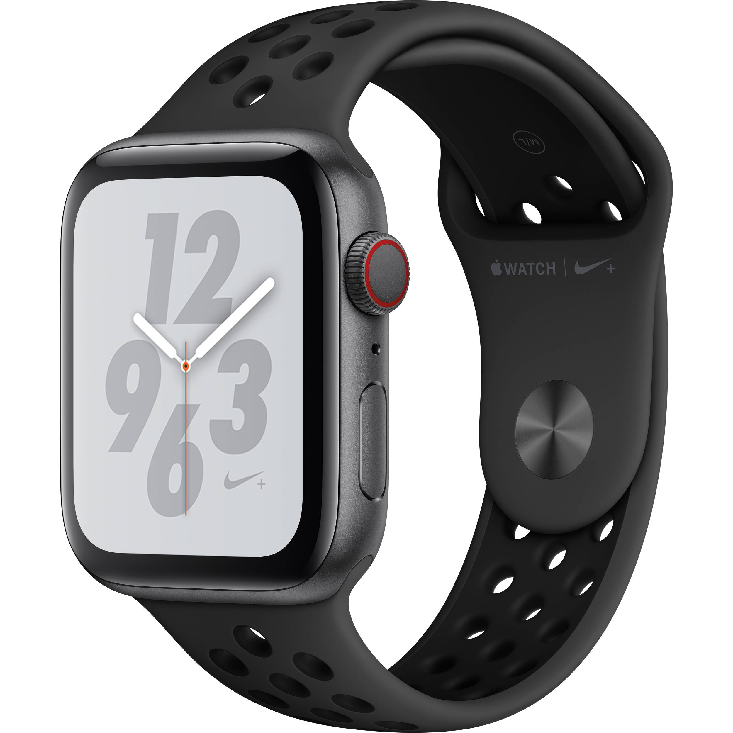 5a69e923 Apple Watch Nike+ Series 4 (GPS + Cellular, 44mm, Space Gray Aluminum,  Anthracite/Black Nike Sport Band)