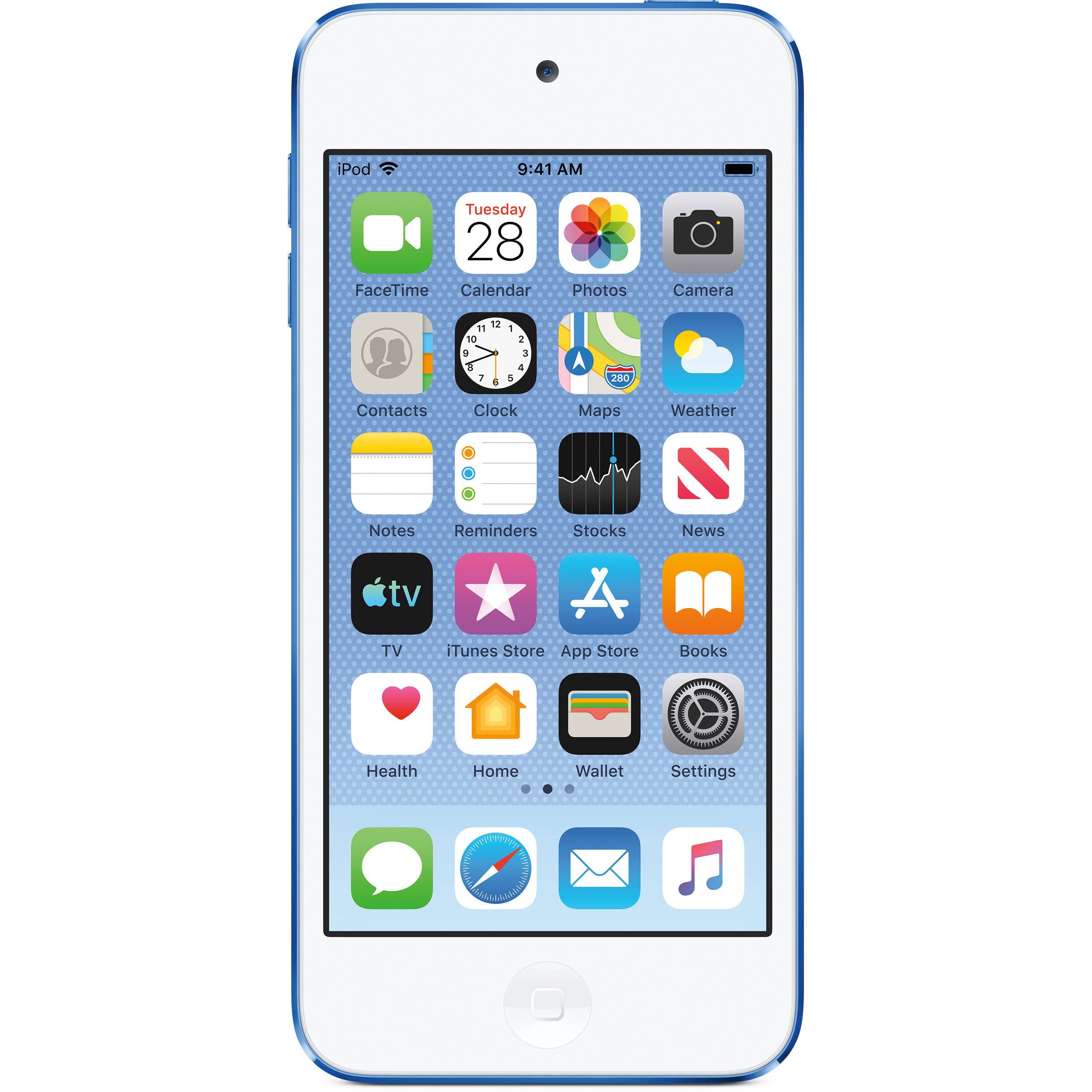 Apple 128GB iPod touch (7th Generation, Blue) MVJ32LL/A B&H