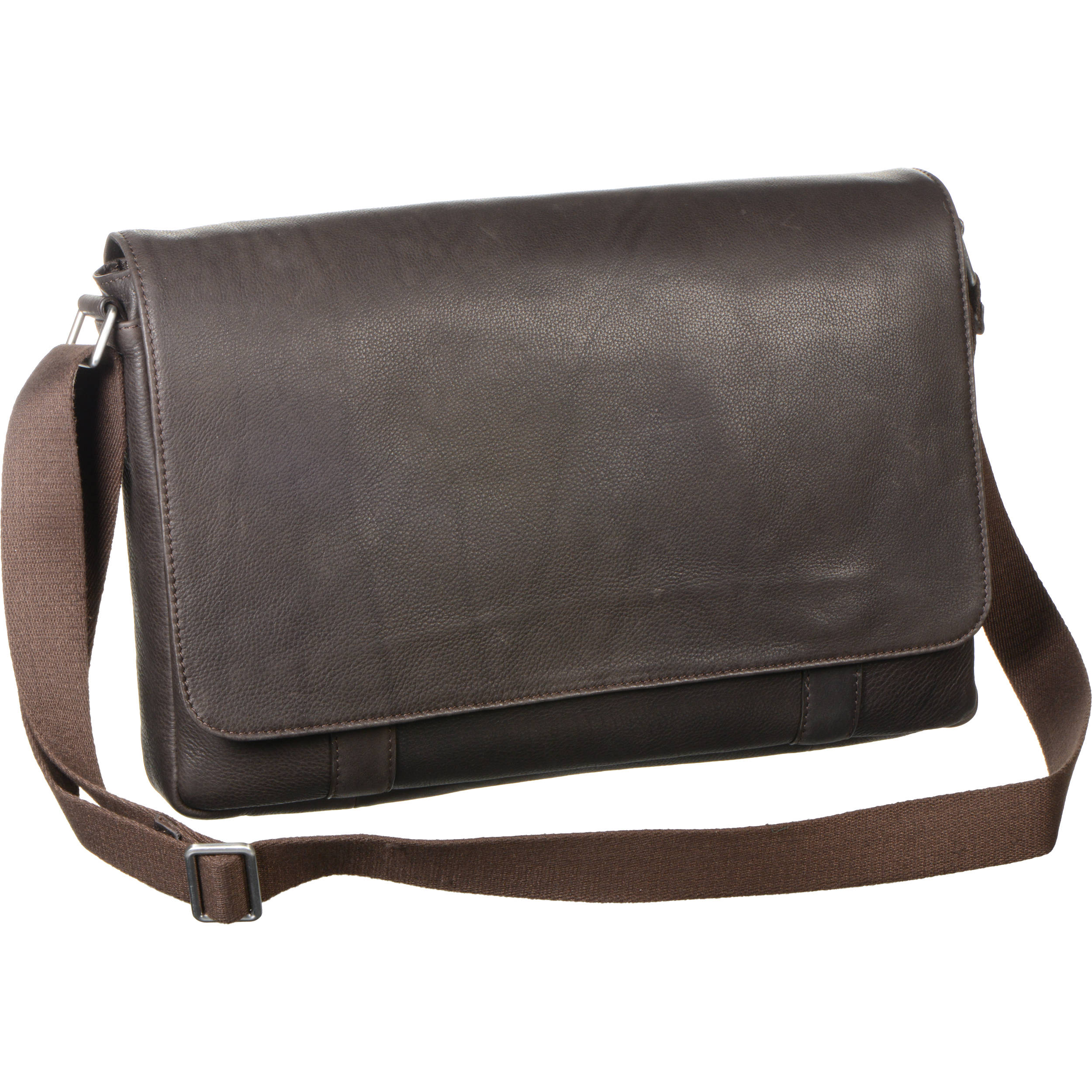 Savile Row Computer Messenger Bag For 15 Laptop Brown