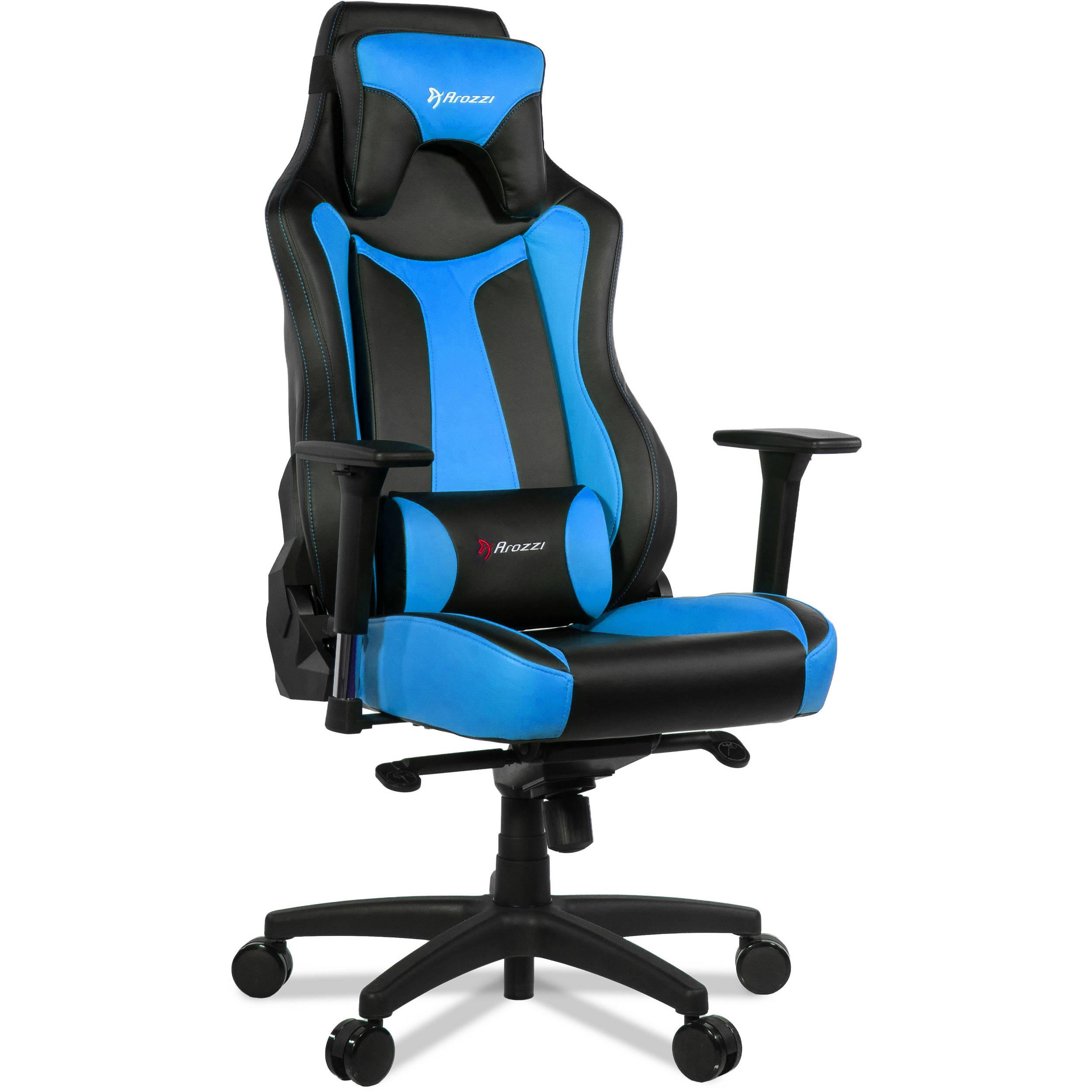 Arozzi Vernazza Gaming Chair Blue Vernazza Bl B Amp H Photo