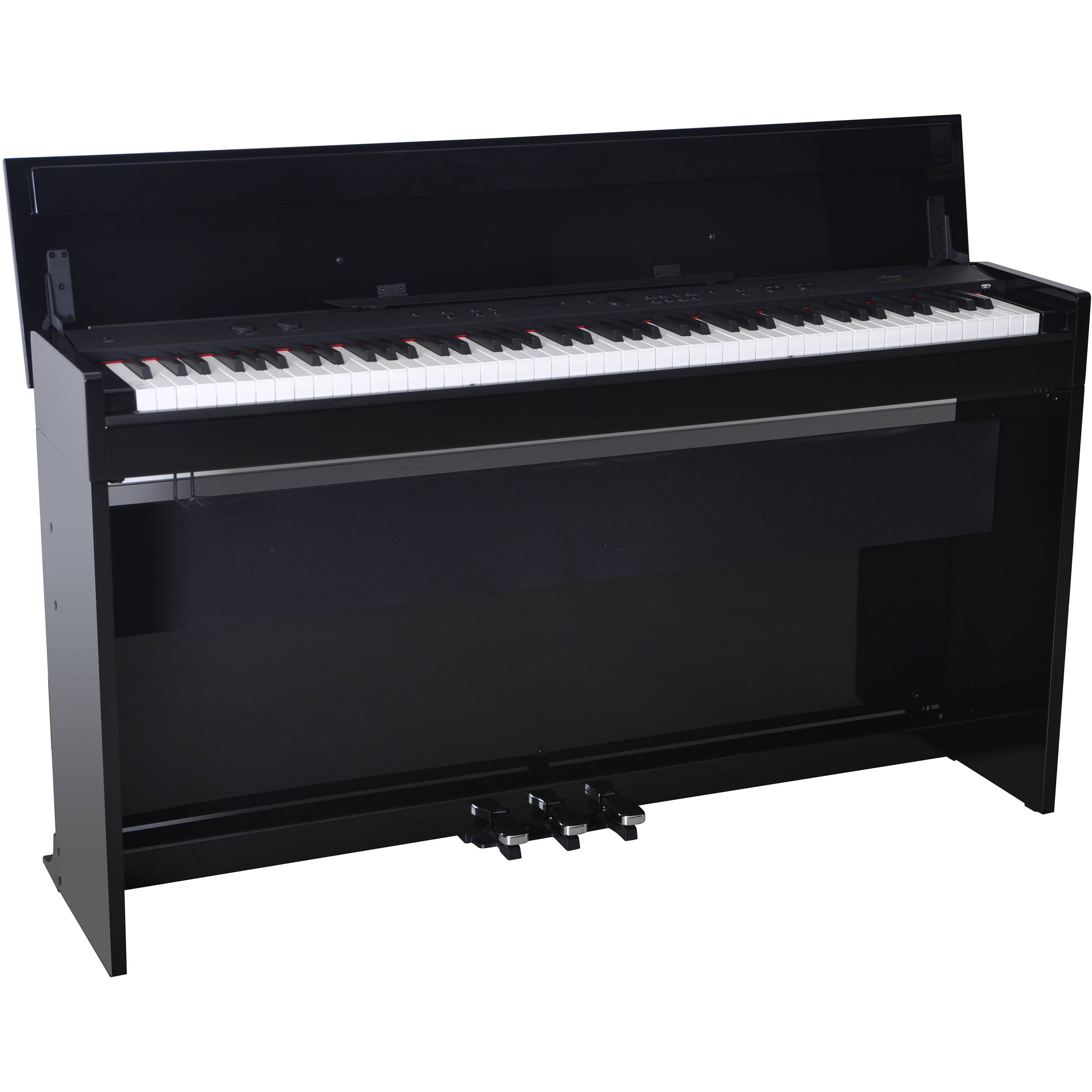 Artesia a 20 home digital piano gloss black a 20 gb b h for Www home piani foto