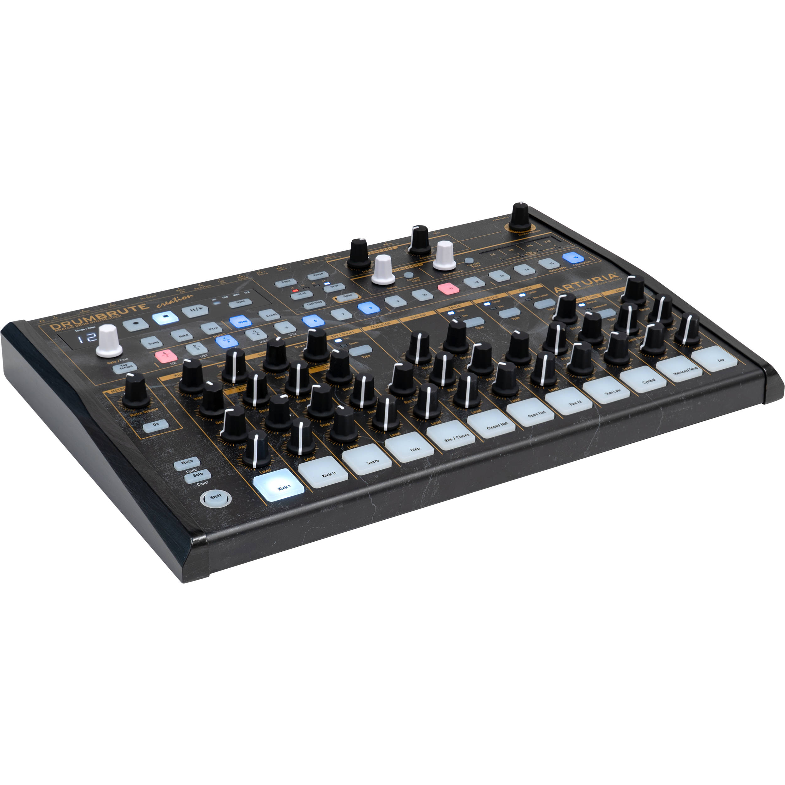 arturia drumbrute analog drum machine creation edition 560102. Black Bedroom Furniture Sets. Home Design Ideas