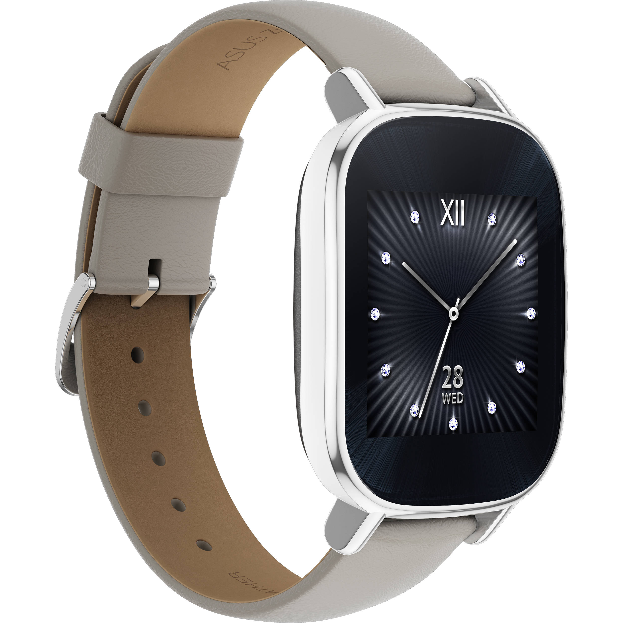ASUS ZenWatch 2 Android Wear Smartwatch WI502Q-SL-BD B&H Photo