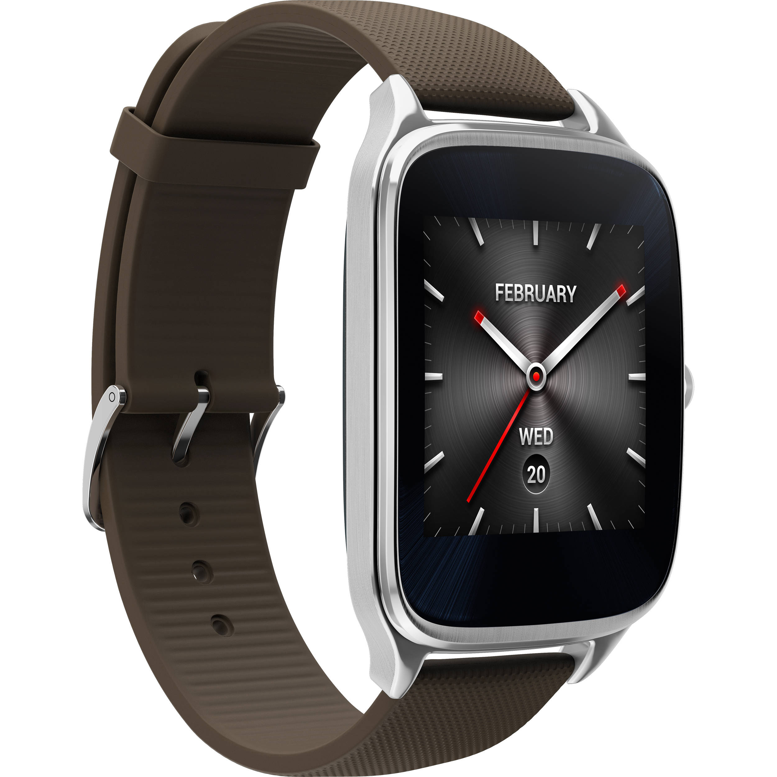 ASUS ZenWatch 2 Android Wear Smartwatch WI501Q-SR-BW B&H Photo