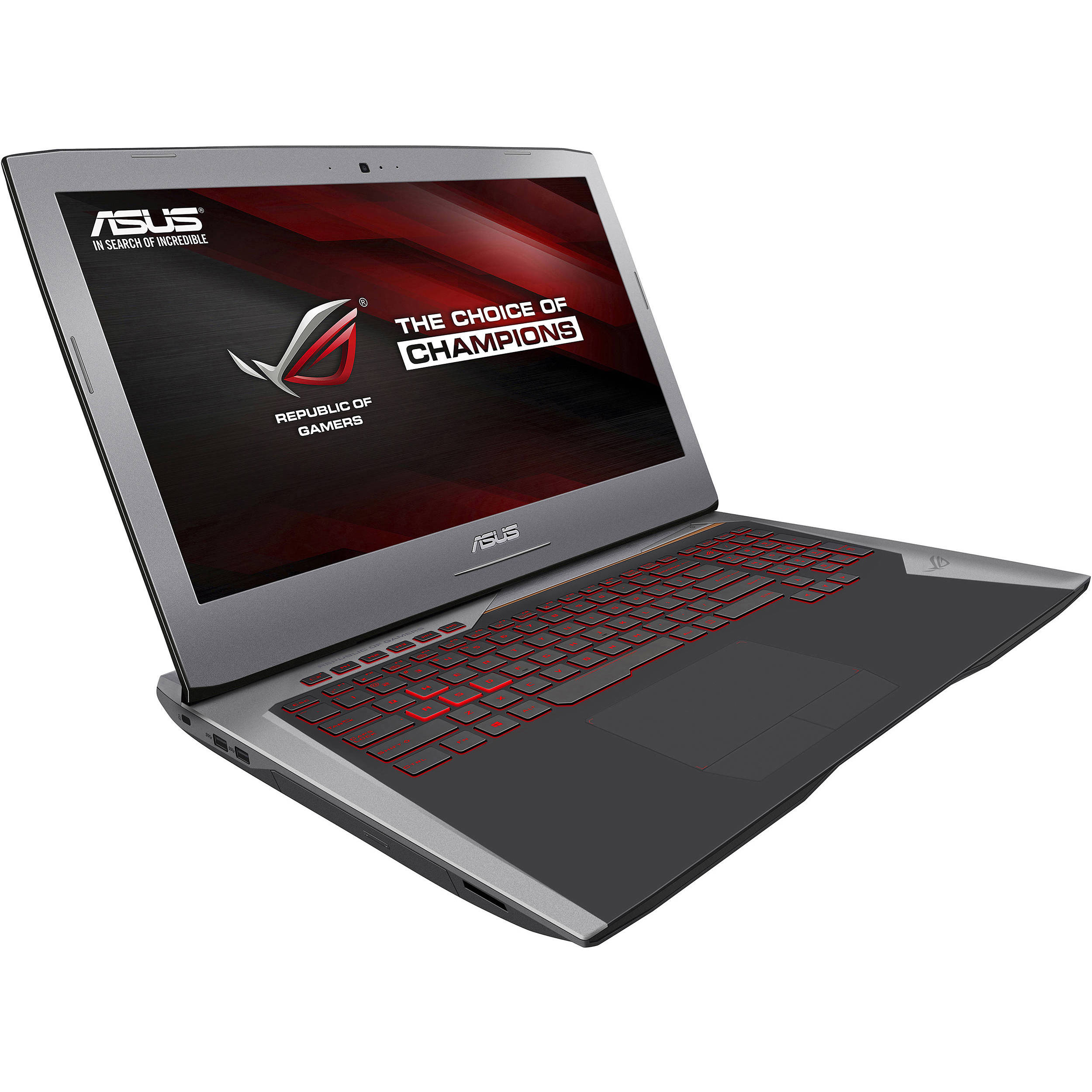 asus 17 3 republic of gamers g752vy gaming g752vy dh72 b h. Black Bedroom Furniture Sets. Home Design Ideas