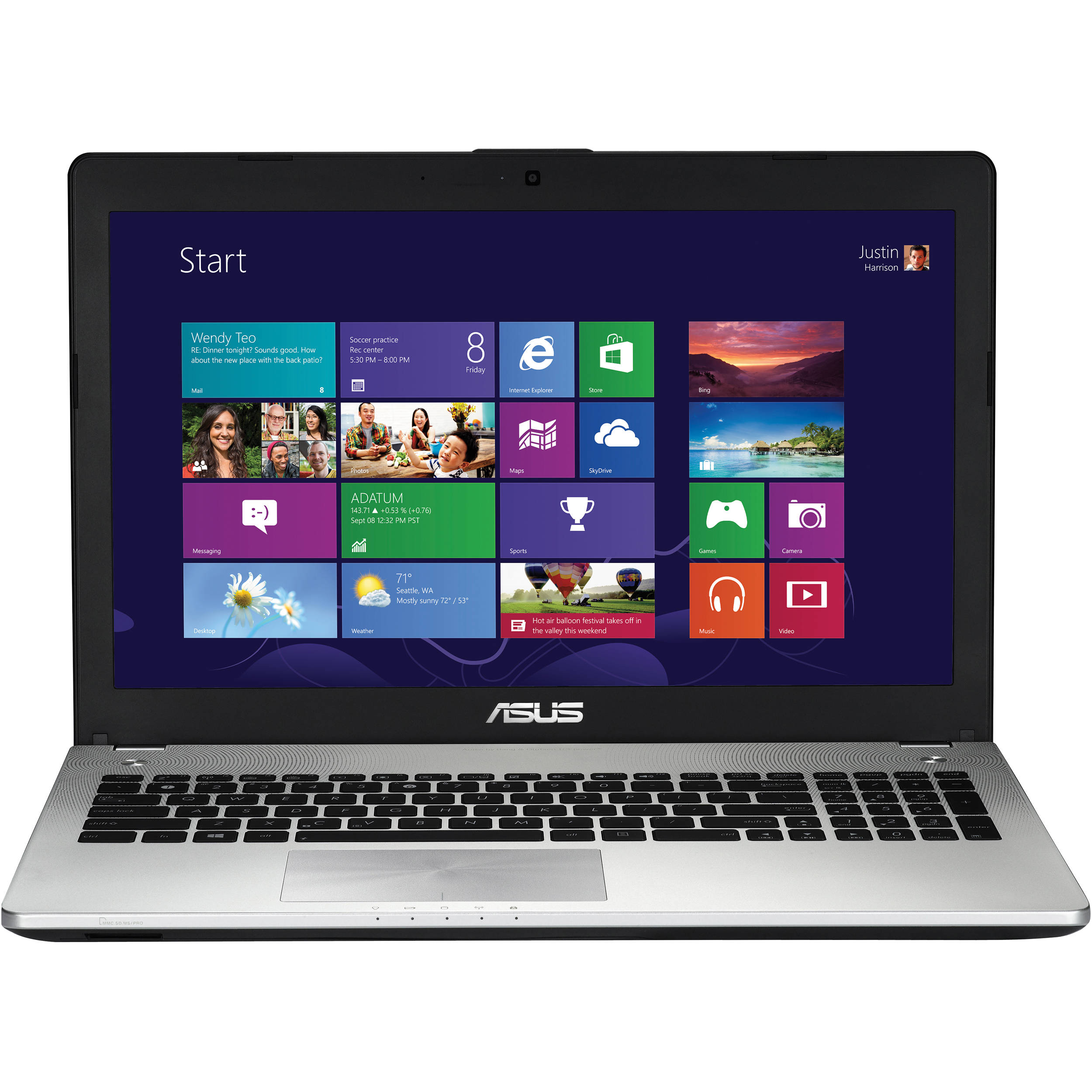 "ASUS N56JN-EB71 15.6"" Notebook Computer (Black Aluminum)"