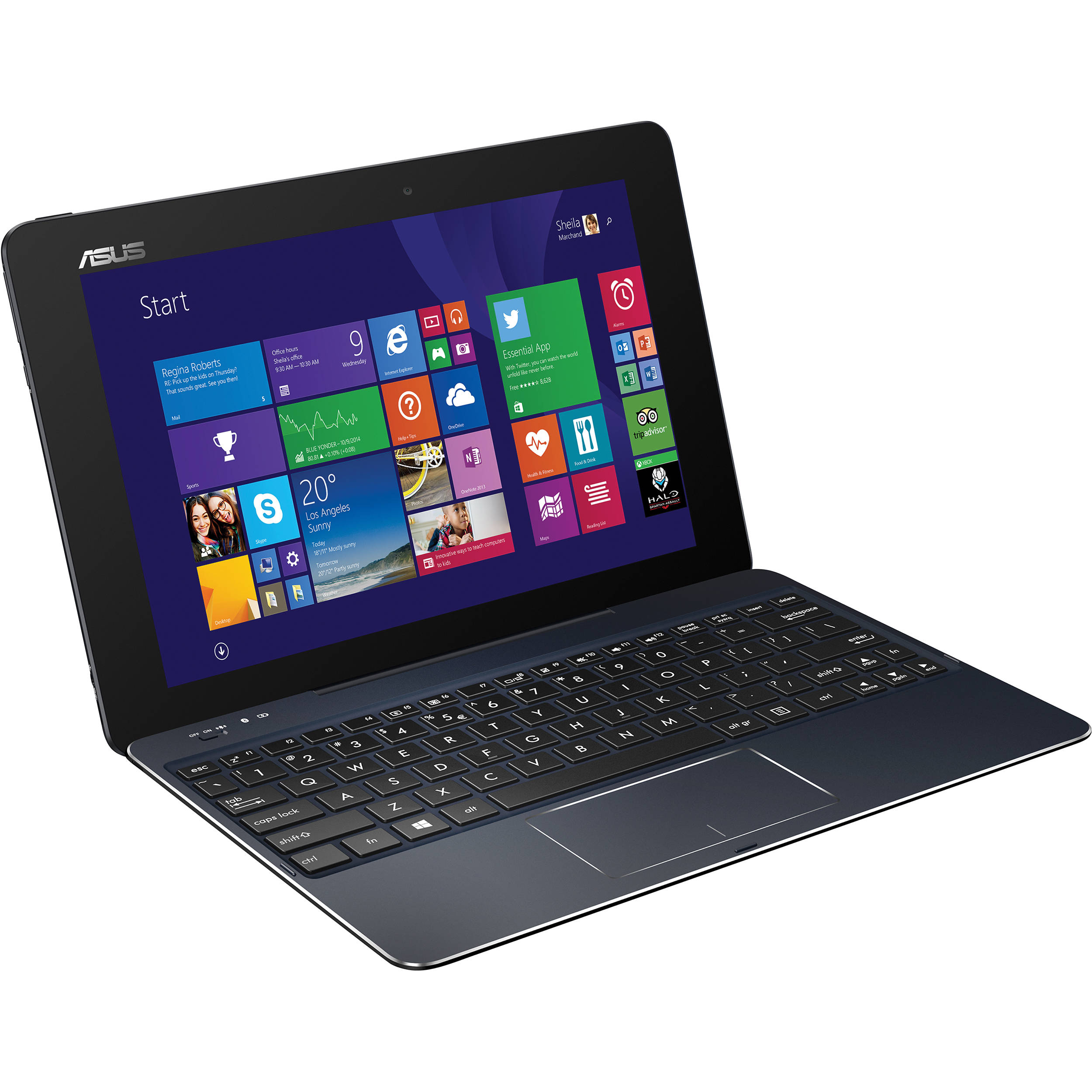 Asus 64gb t100 chi transformer book t100chi c1 bk b h photo - Asus transformer t100 ports ...