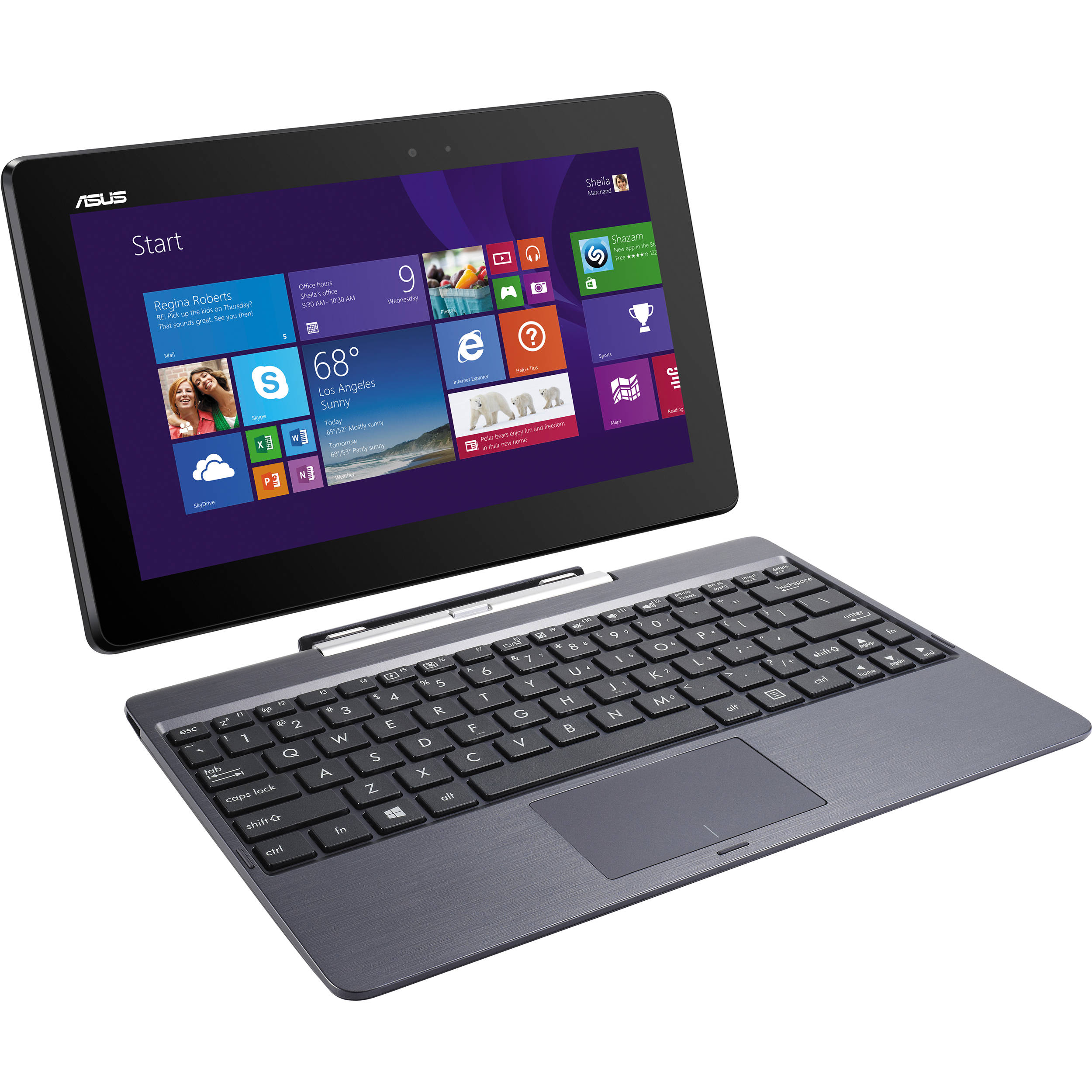 ASUS 32GB eMMC & 500GB HDD T100 Series Transformer Book Gray