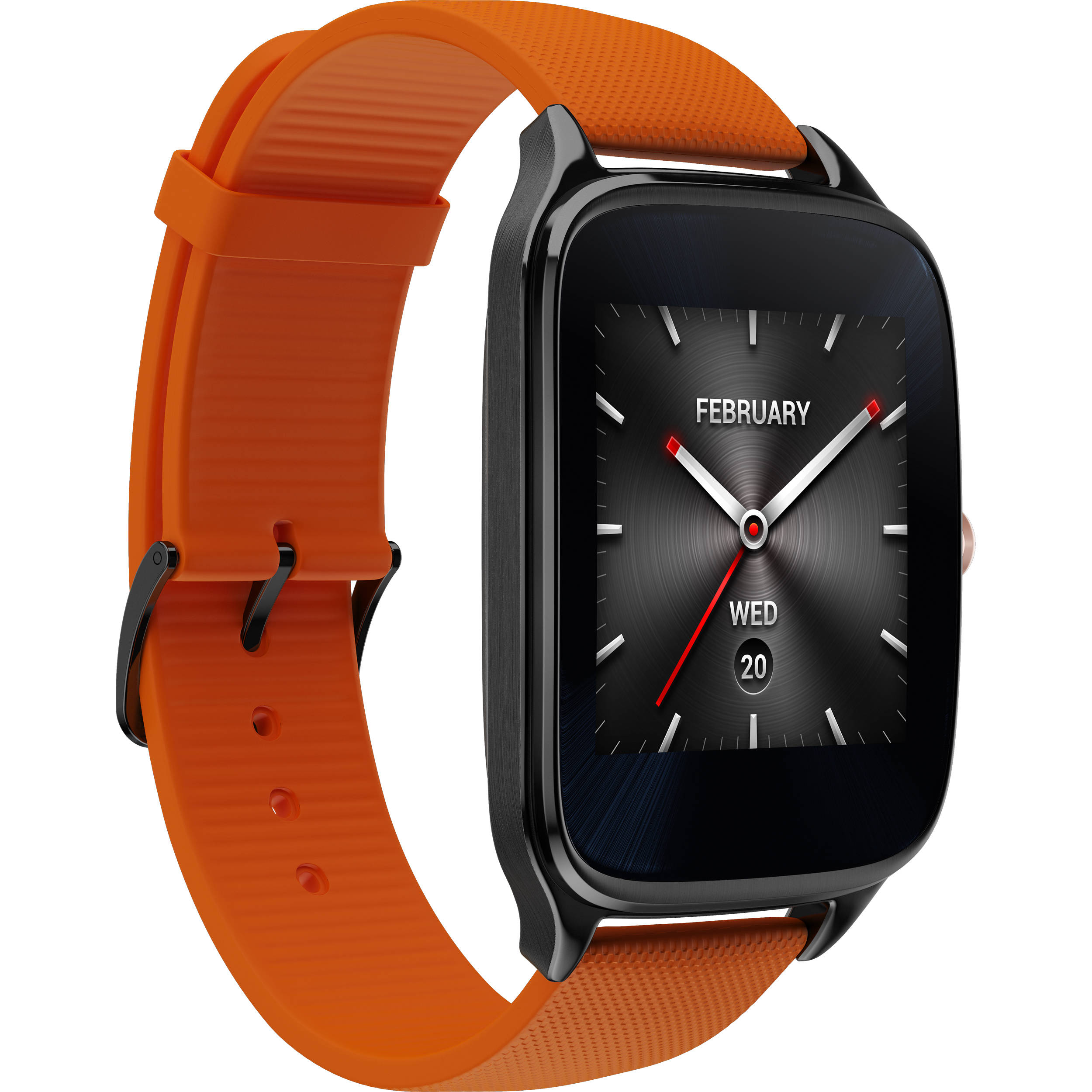 ASUS ZenWatch 2 Android Wear Smartwatch (Orange Leather Strap)