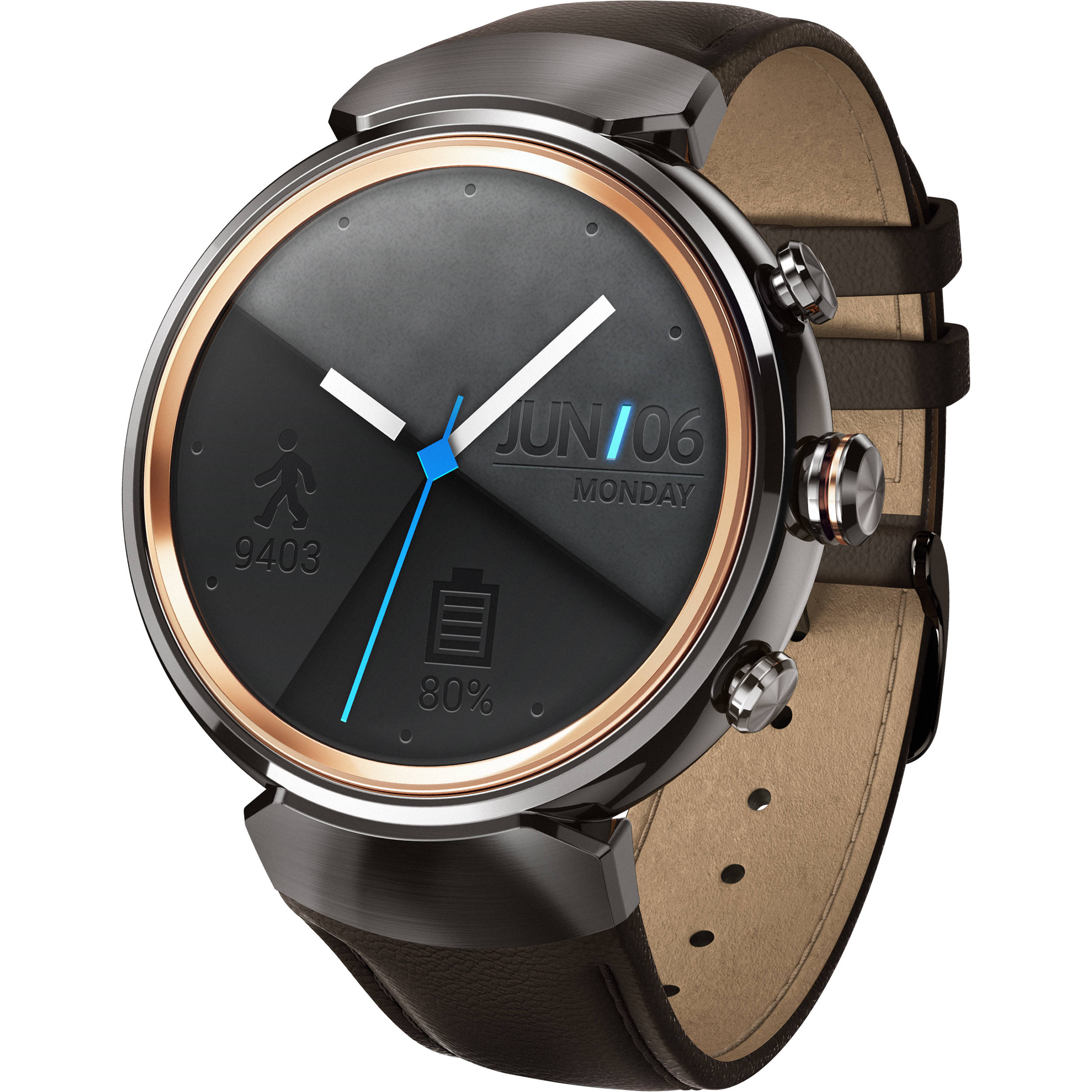asus zenwatch 3 smartwatch wi503q gl db b h photo video. Black Bedroom Furniture Sets. Home Design Ideas