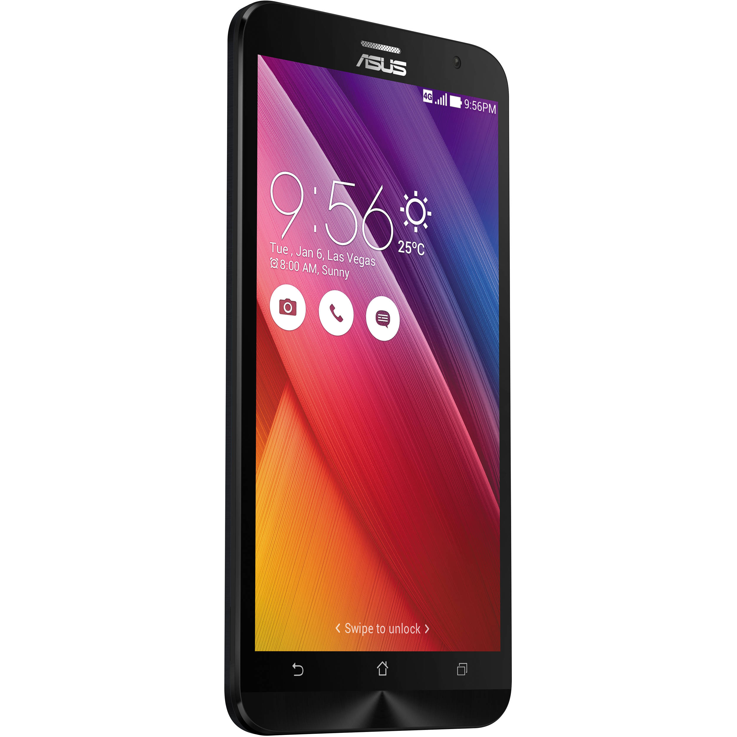 asus zenfone 2 ze551ml 64gb smartphone ze551ml 23 4g64gn bk b h. Black Bedroom Furniture Sets. Home Design Ideas