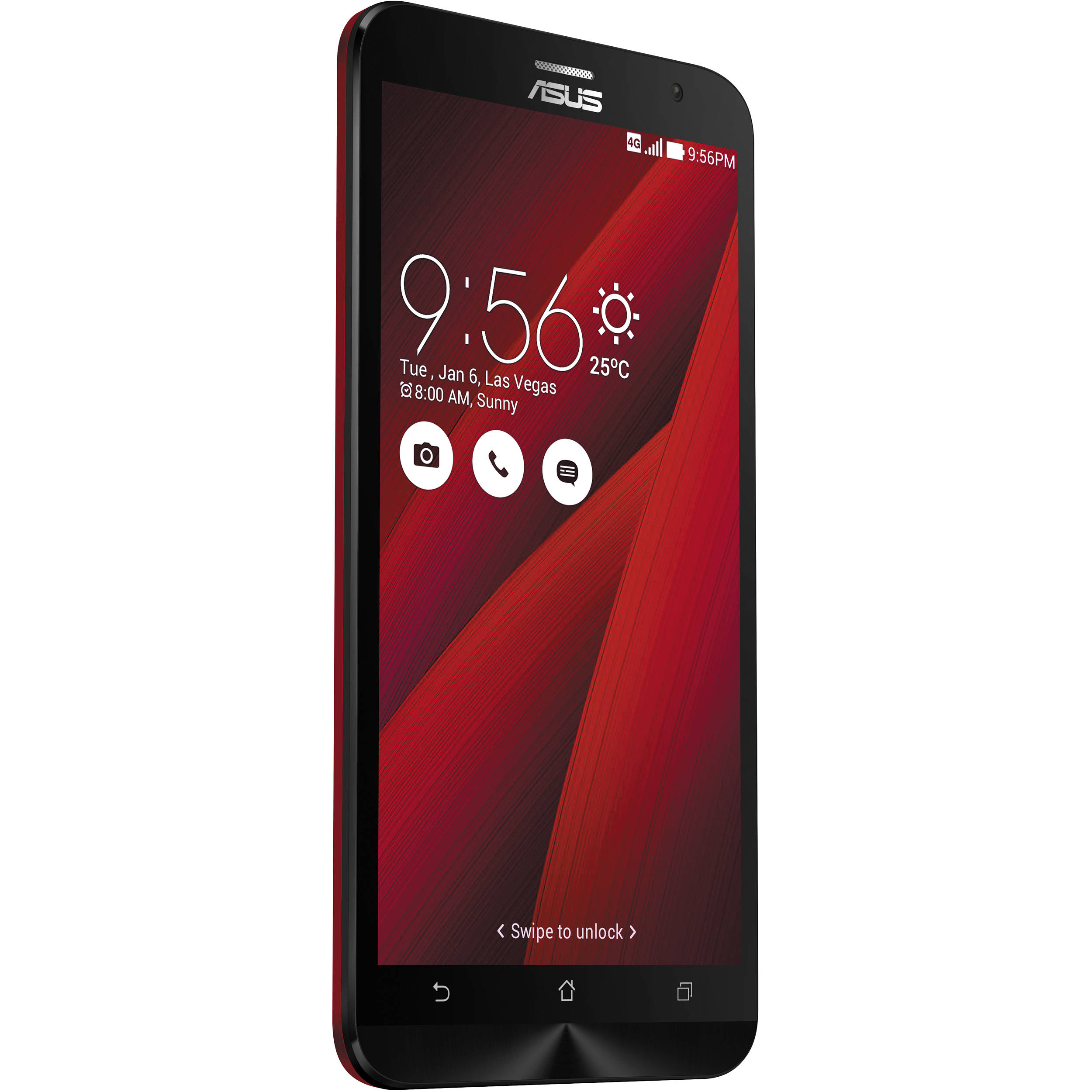 asus zenfone 2 ze551ml 64gb smartphone ze551ml 23 4g64gn rd b h. Black Bedroom Furniture Sets. Home Design Ideas