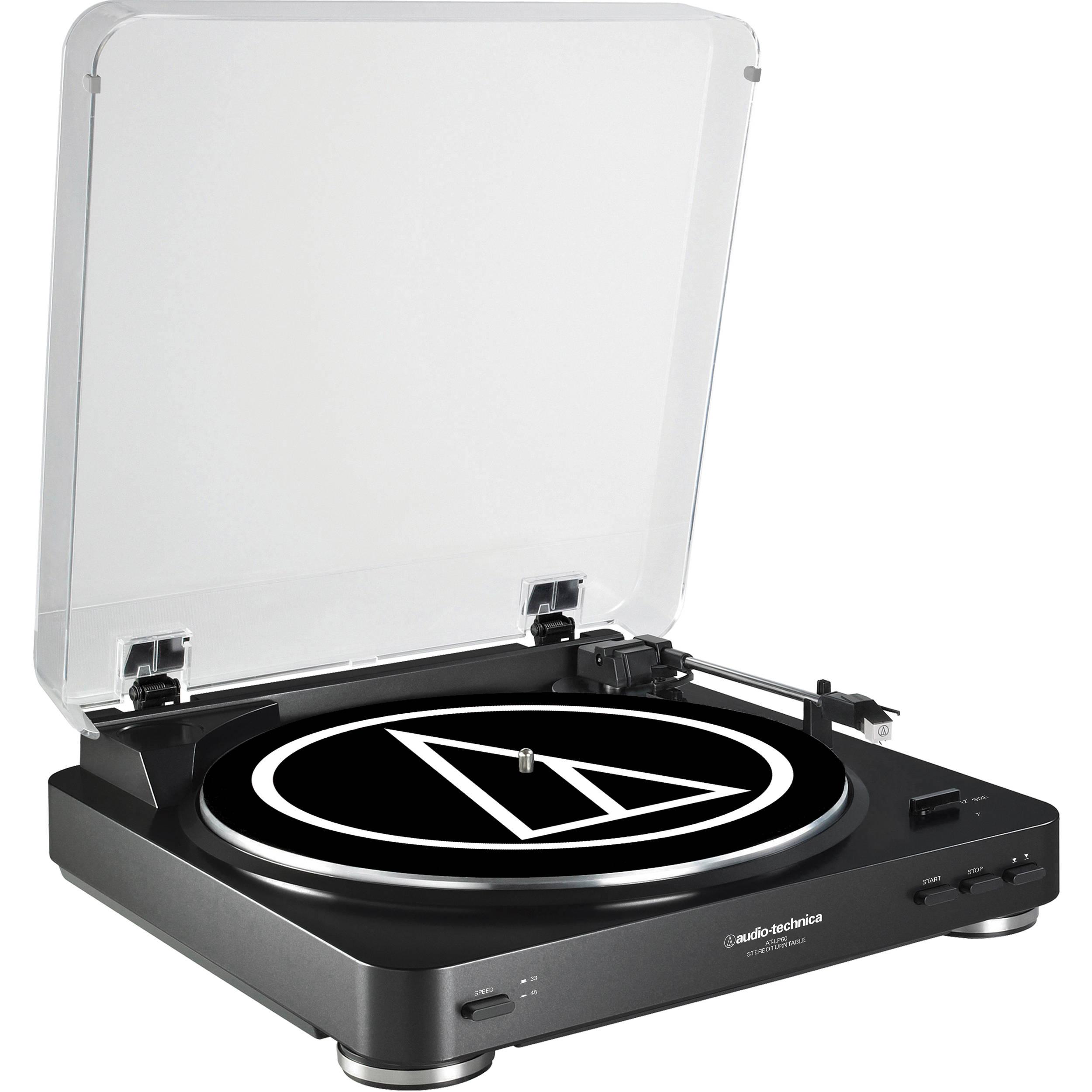 Audio Technica At : audio technica at lp60 fully automatic belt drive at lp60bk b h ~ Vivirlamusica.com Haus und Dekorationen