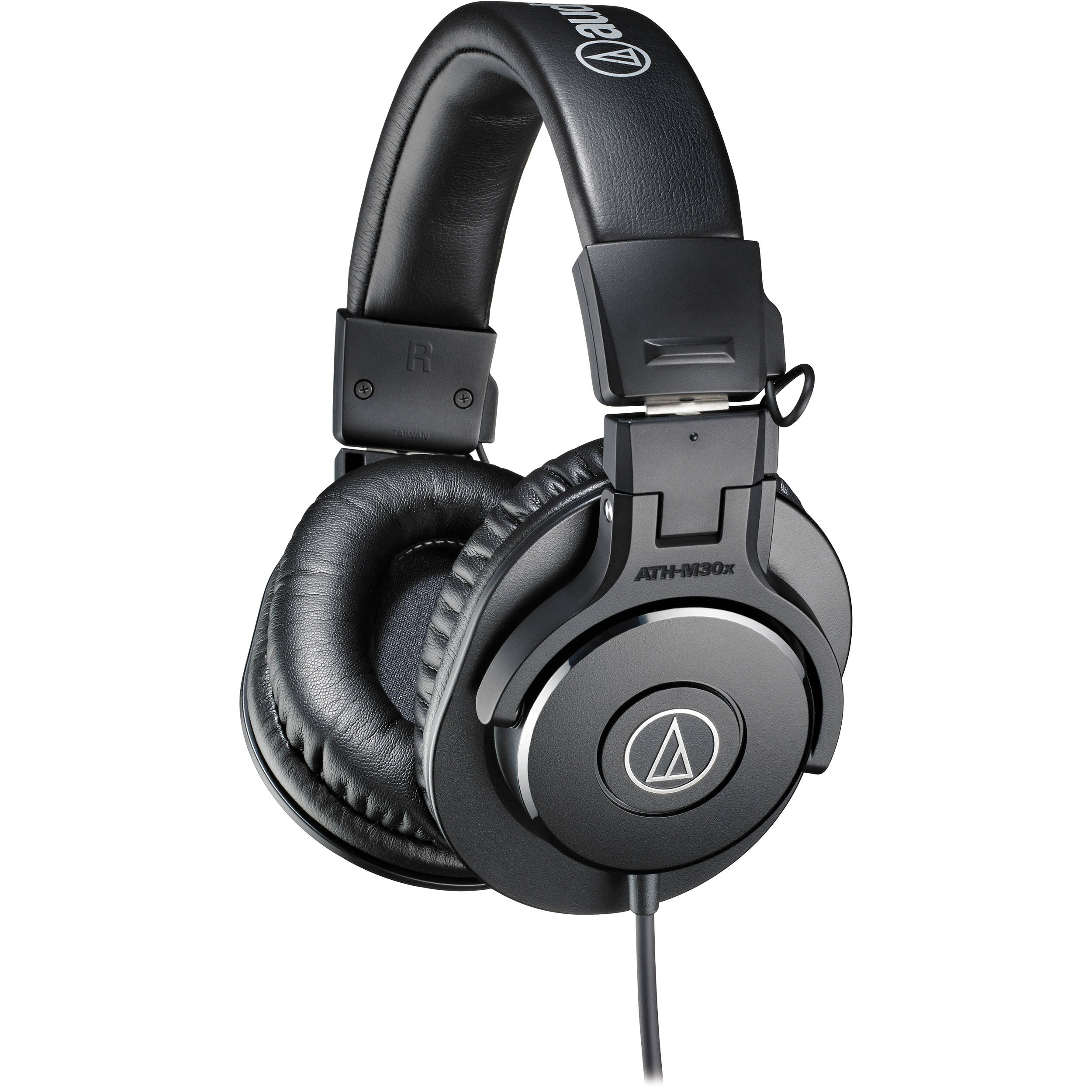 audio technica ath m30x monitor headphones black ath m30x b h. Black Bedroom Furniture Sets. Home Design Ideas