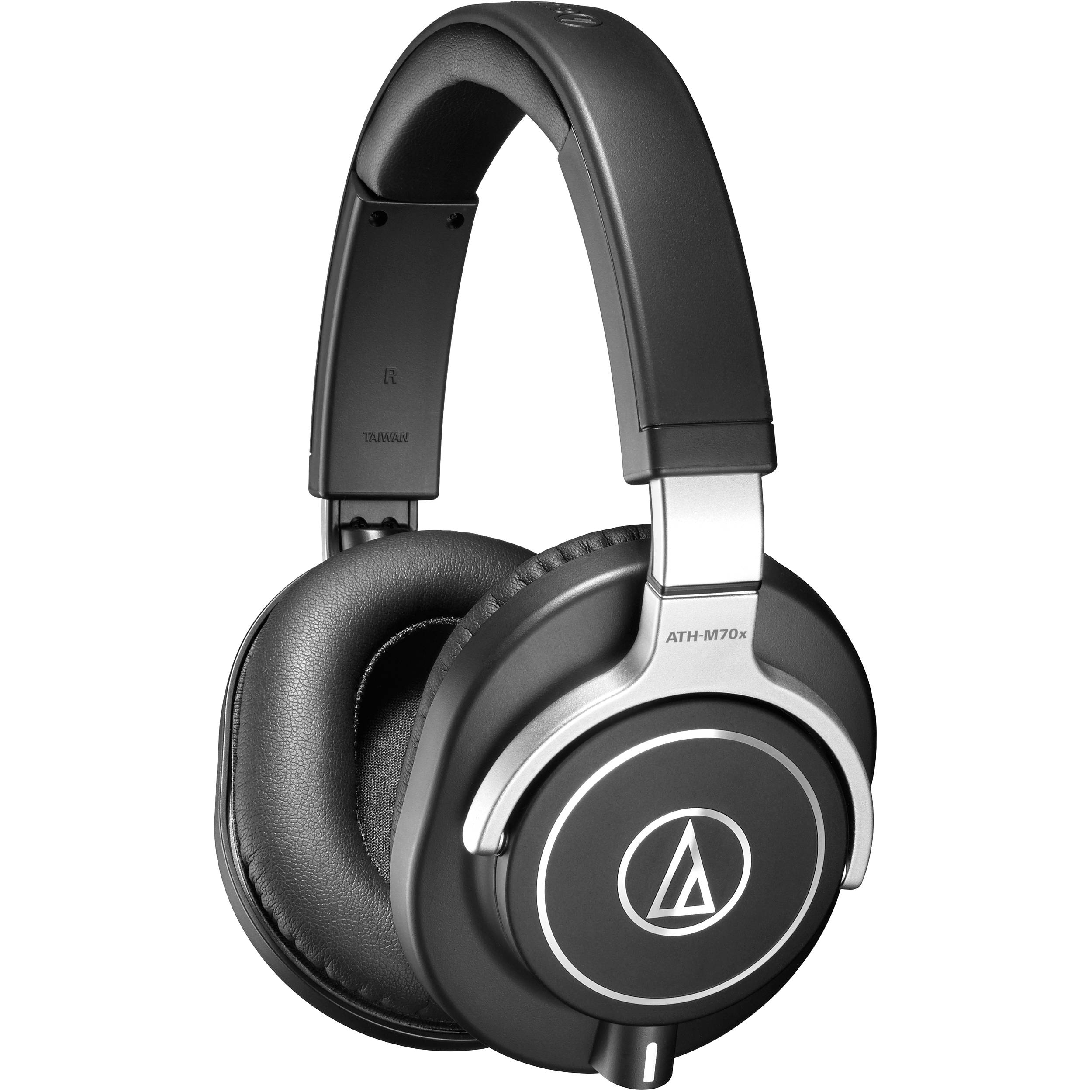 audio technica ath m70x pro monitor headphones ath m70x b h. Black Bedroom Furniture Sets. Home Design Ideas
