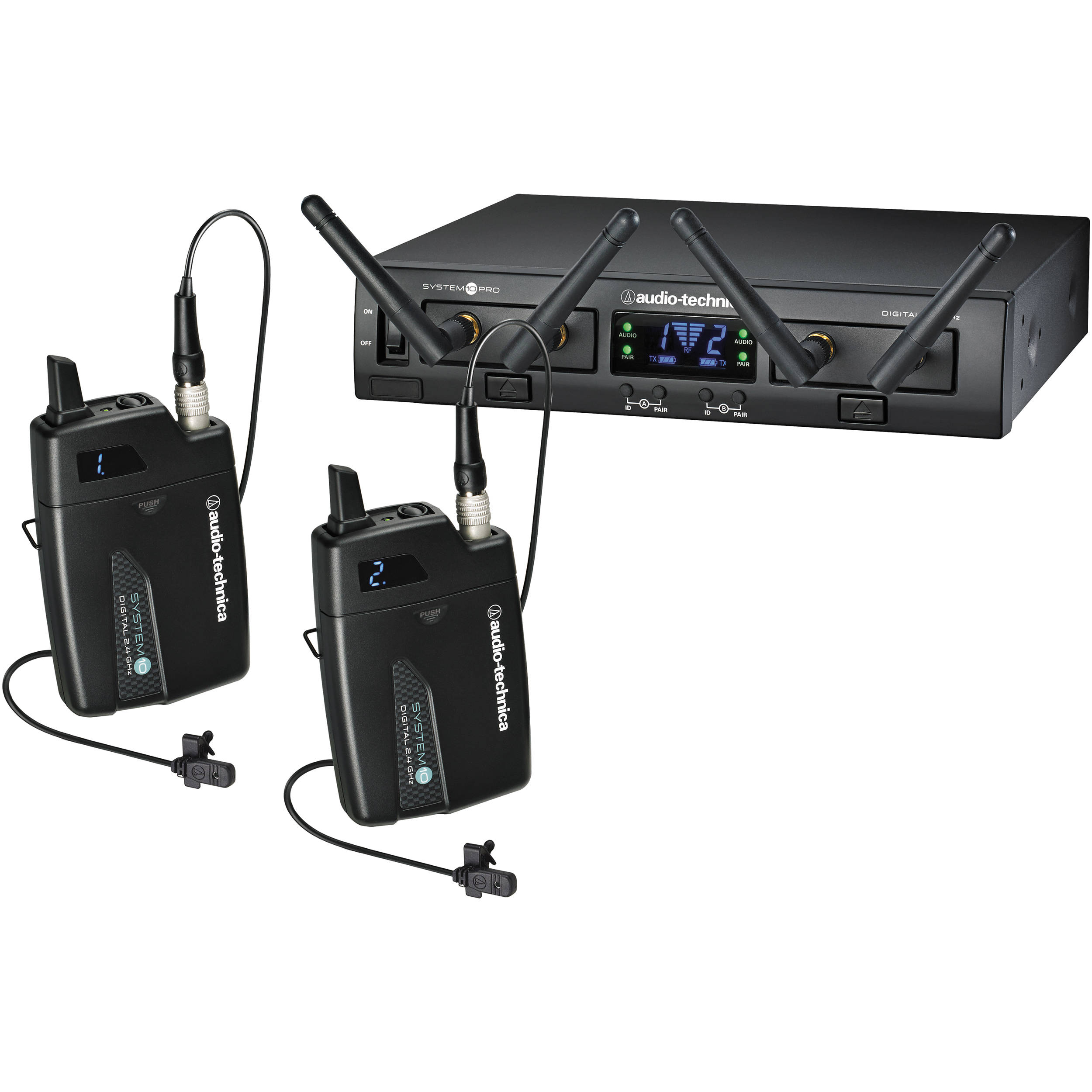 Audio-Technica ATW-1311L System 10 PRO Rack-Mount Digital Dual Lavalier Mic