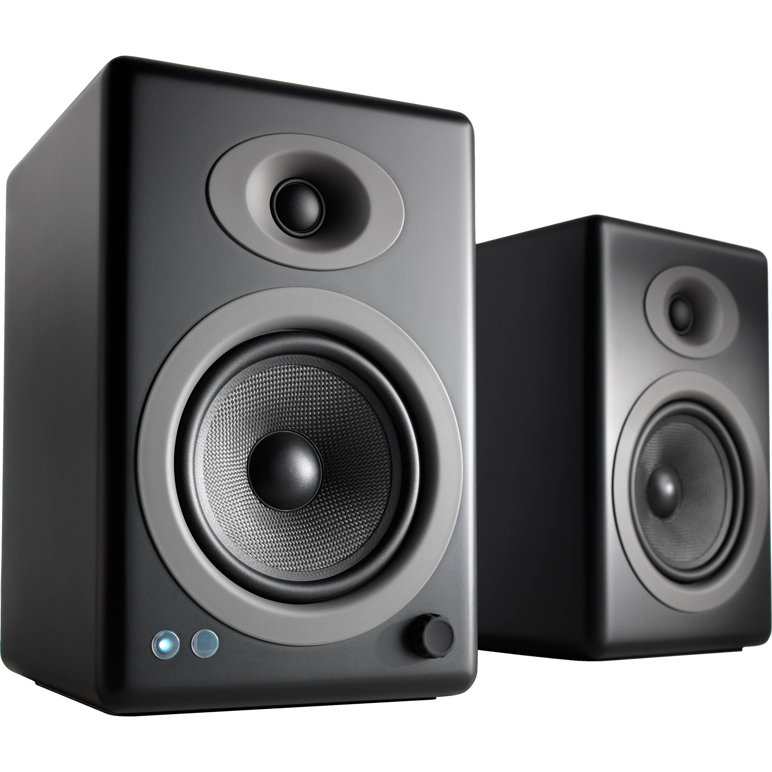 Audioengine A5 Wireless 2 Way Active Bluetooth Bookshelf Speakers Satin Black Pair