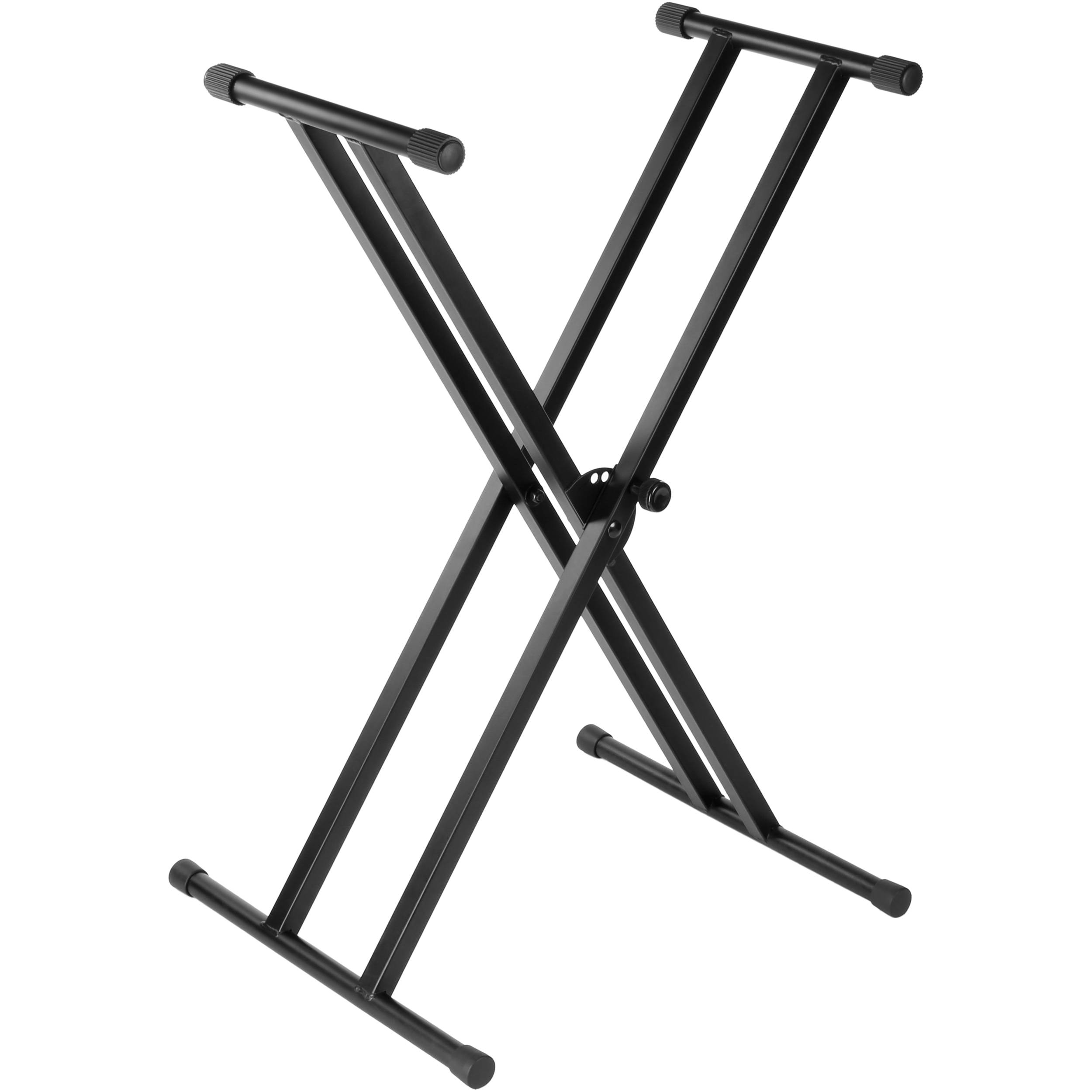 Auray ksp 2x double x keyboard stand with pull knob lock for Stand 2 b