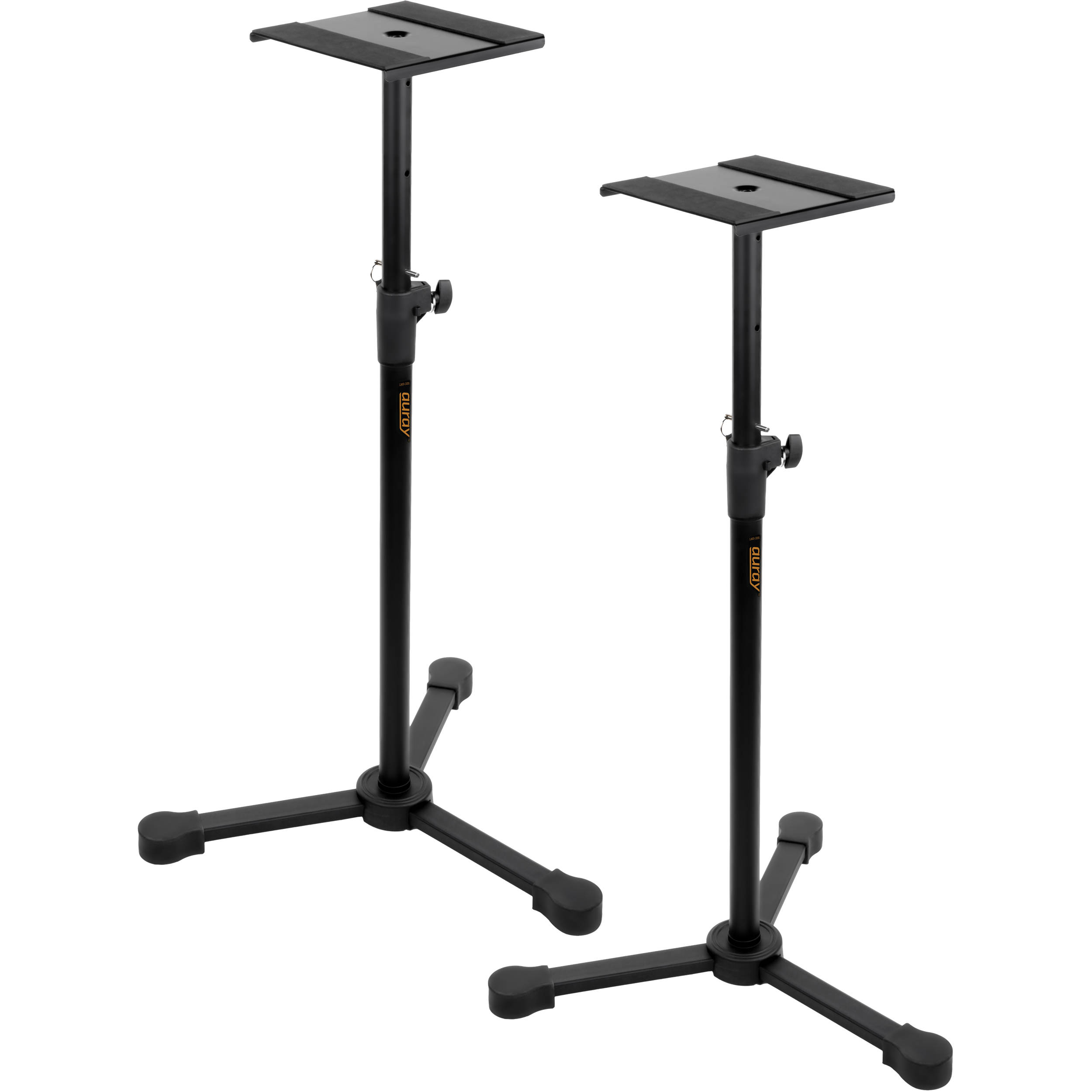 Auray lms 355 studio monitor stands pair lms 335 b h photo for Stand 2 b