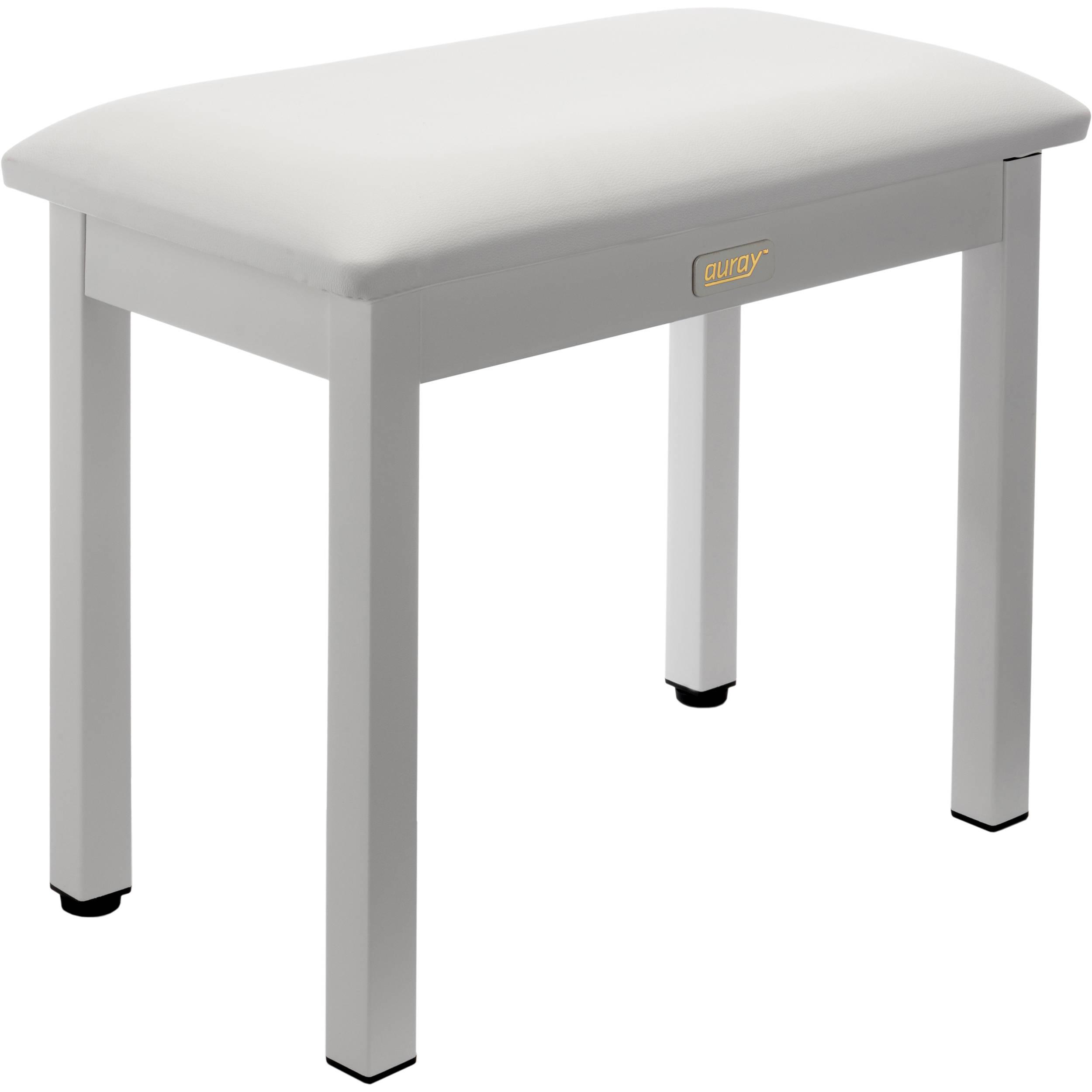 Auray PBM-FW Metal Frame Piano Bench (White) PBM-FW B&H Photo