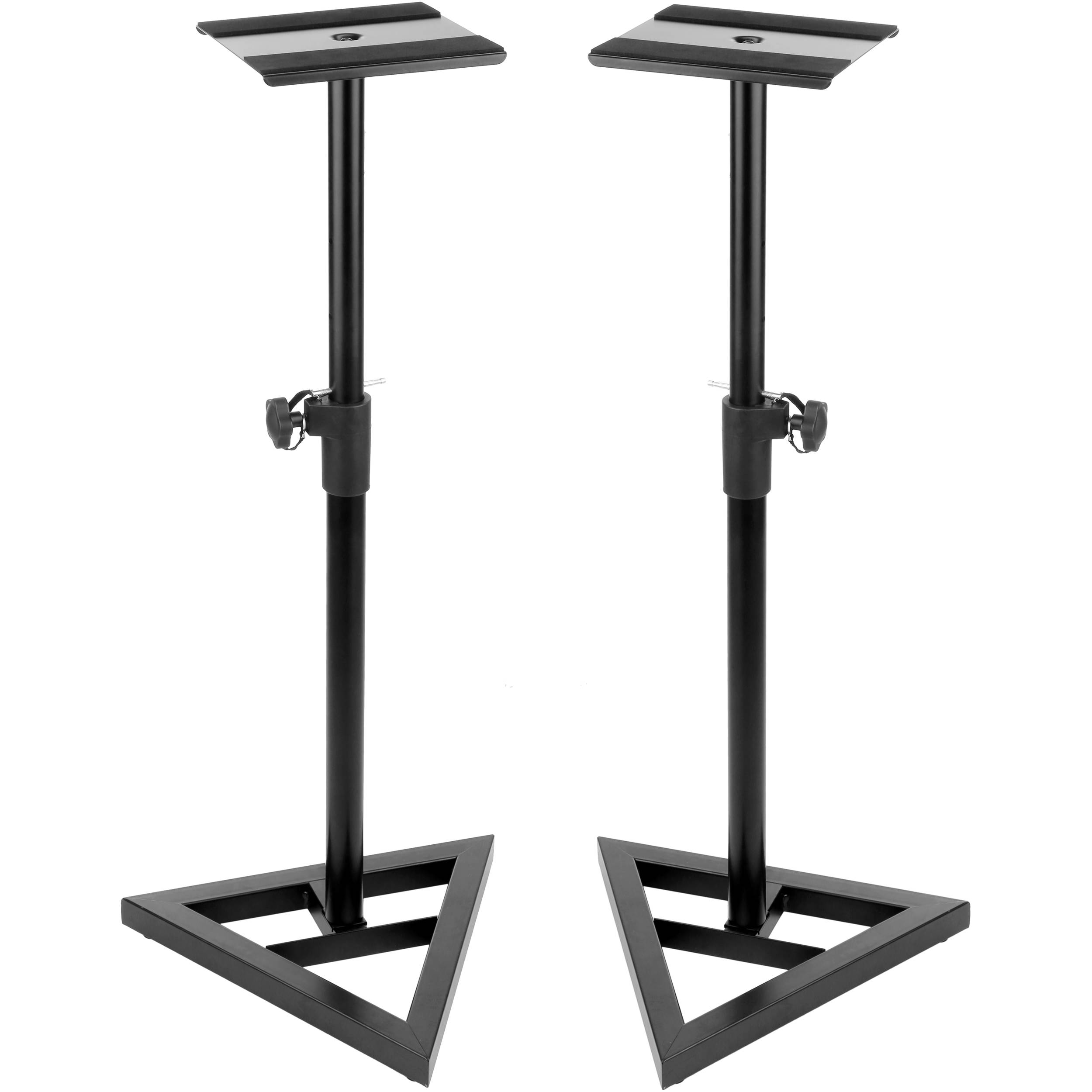 auray tms 135 studio monitor stands pair tms 135 b h photo. Black Bedroom Furniture Sets. Home Design Ideas