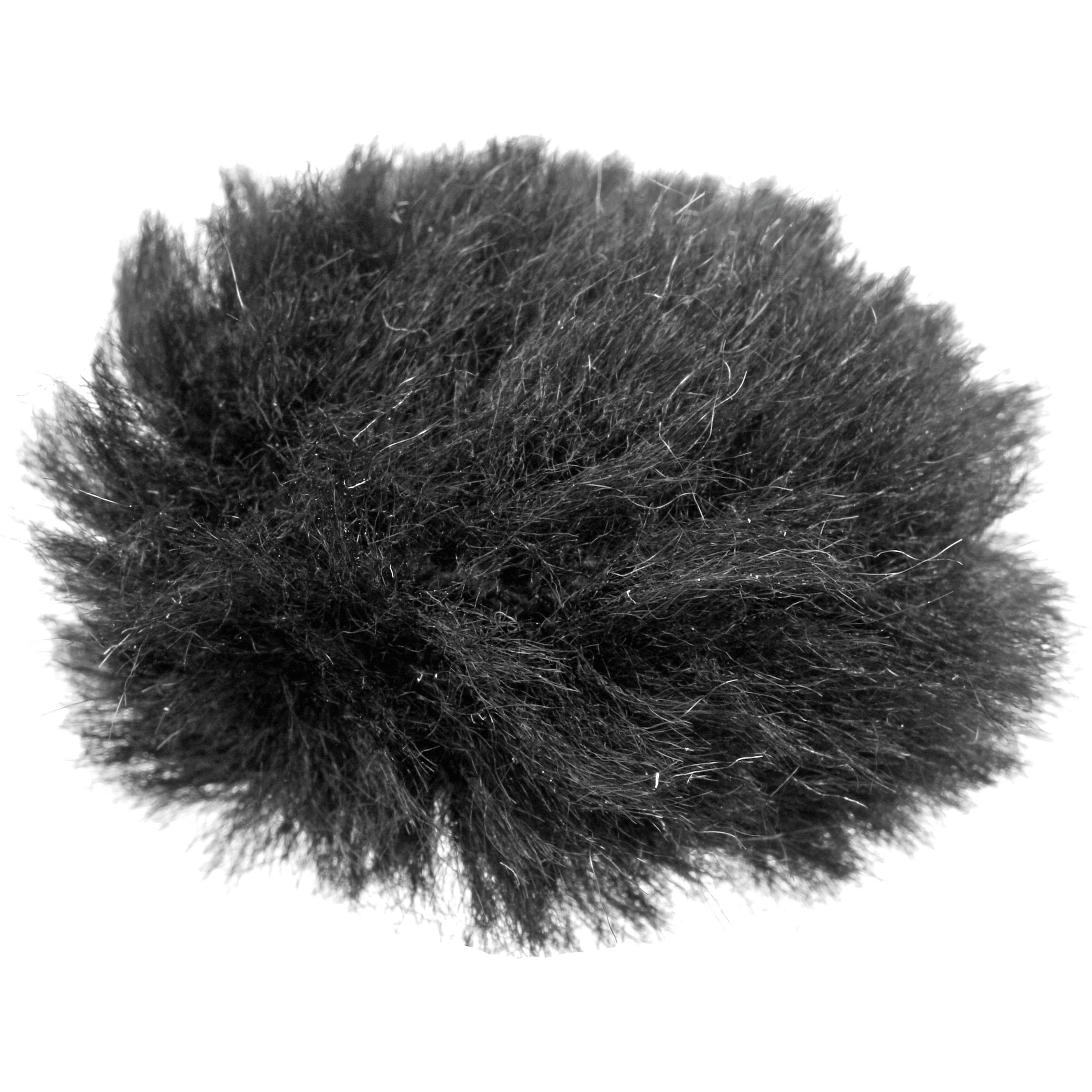 auray fuzzy windbuster for lavalier microphones black wlw b h