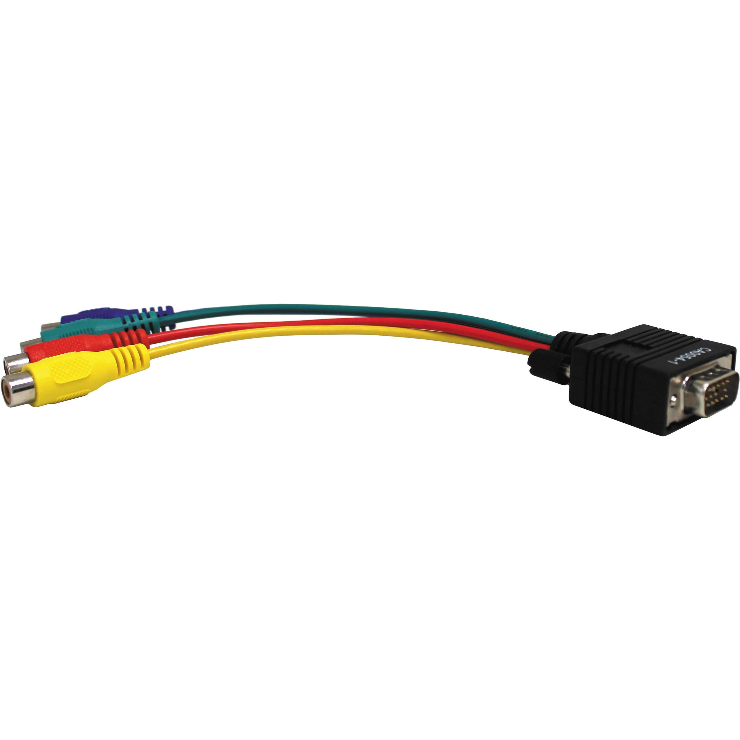 Aurora Multimedia Vga To 4 Rca Adaptor Cable 8 Ca0054 1 Circuit