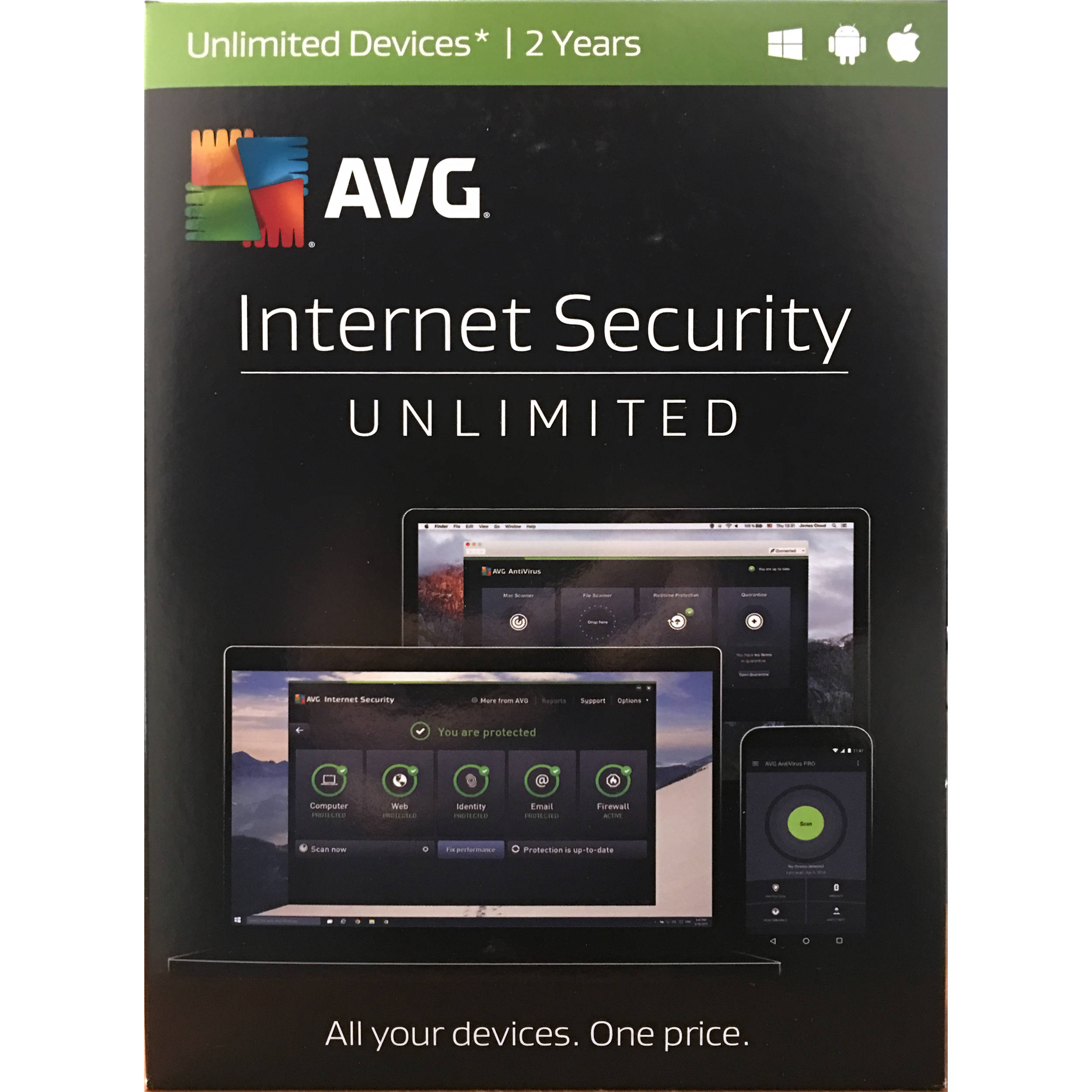 avg internet security you are not protected