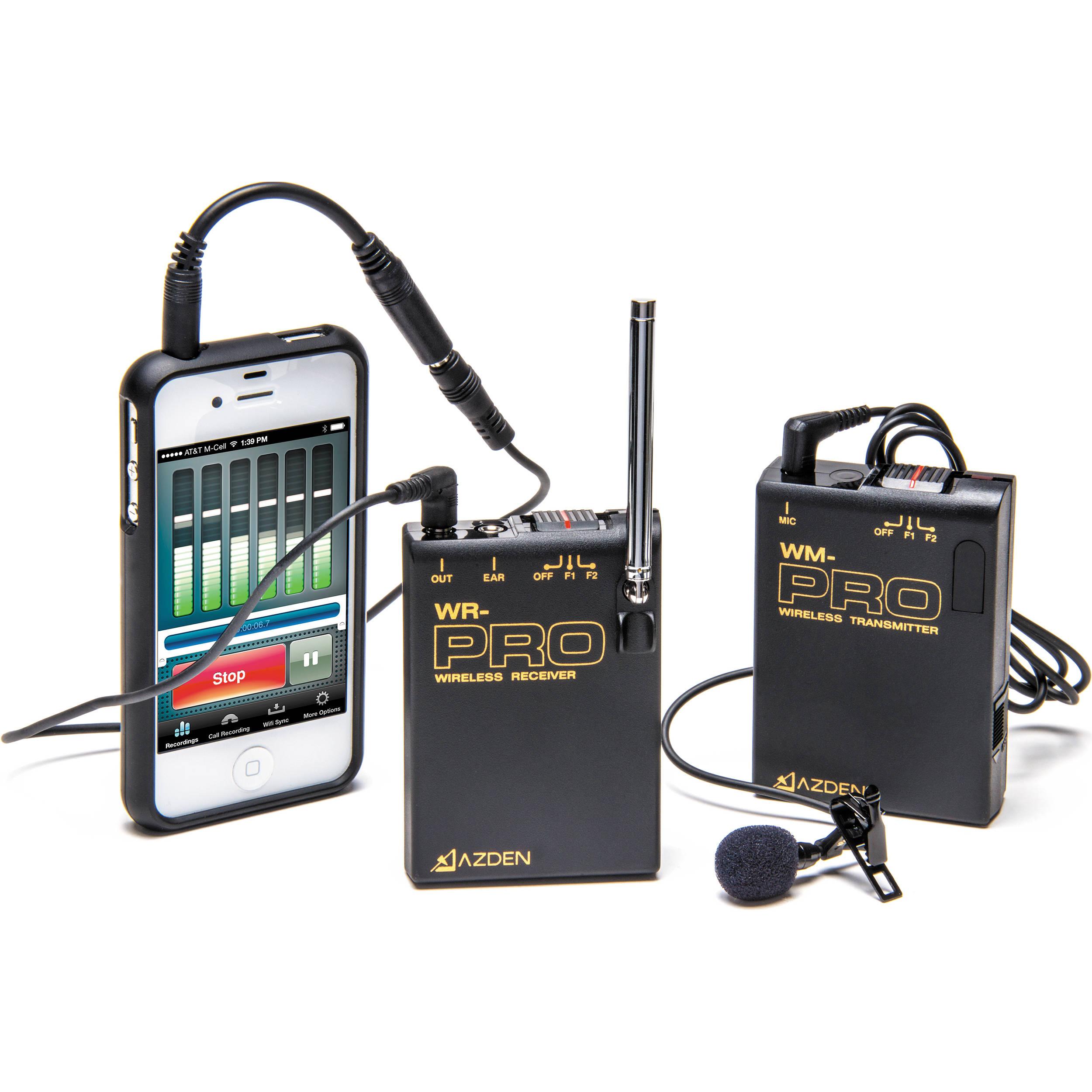 Wireless Mic For Cell Phone Wire Center Power Opamp Cascade Amplifier Circuit Diagram Tradeoficcom Azden Wlx Pro I Vhf Lavalier Microphone B H Rh Bhphotovideo Com Headphones