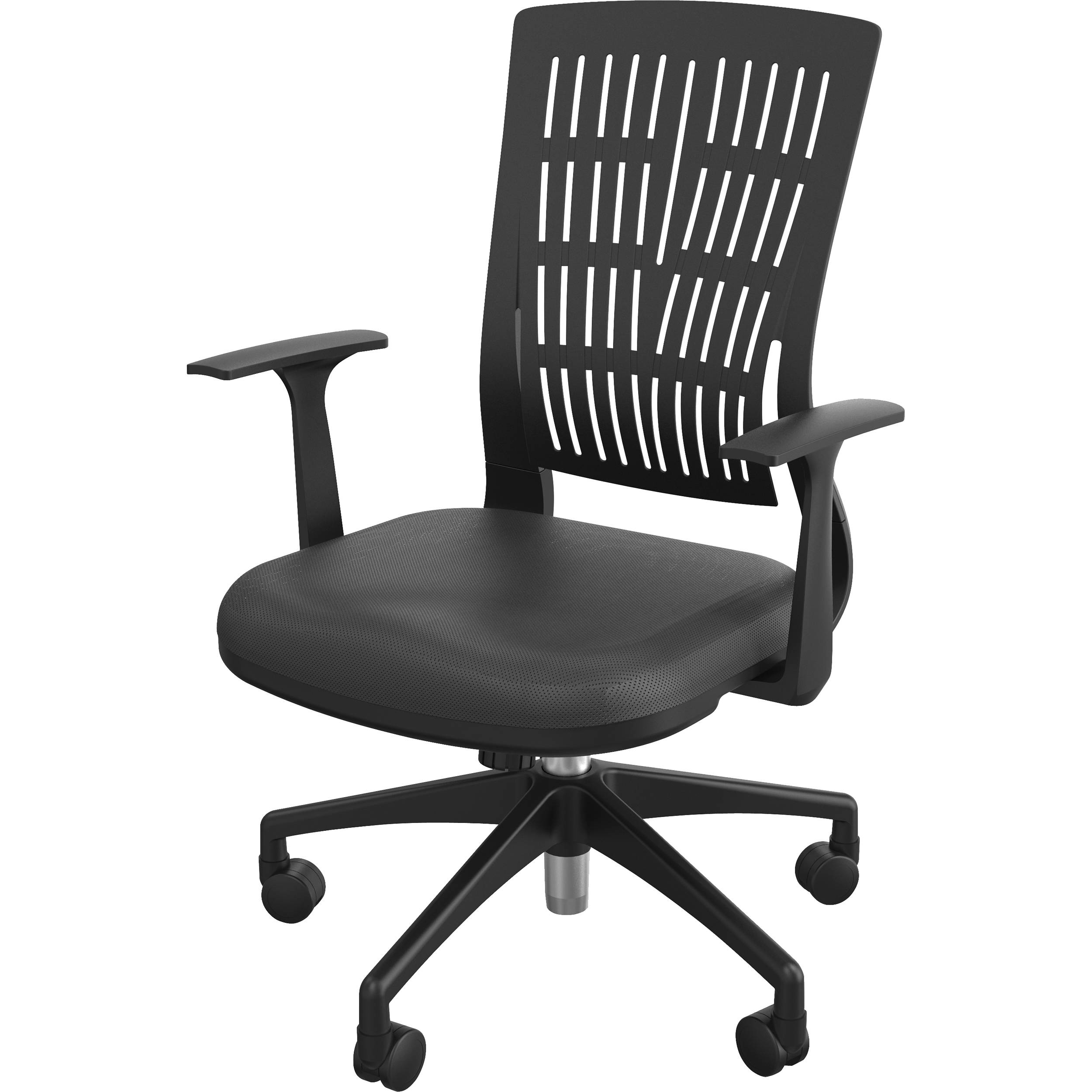 Balt Fly Mid Back Office Chair With Fixed Arms Black